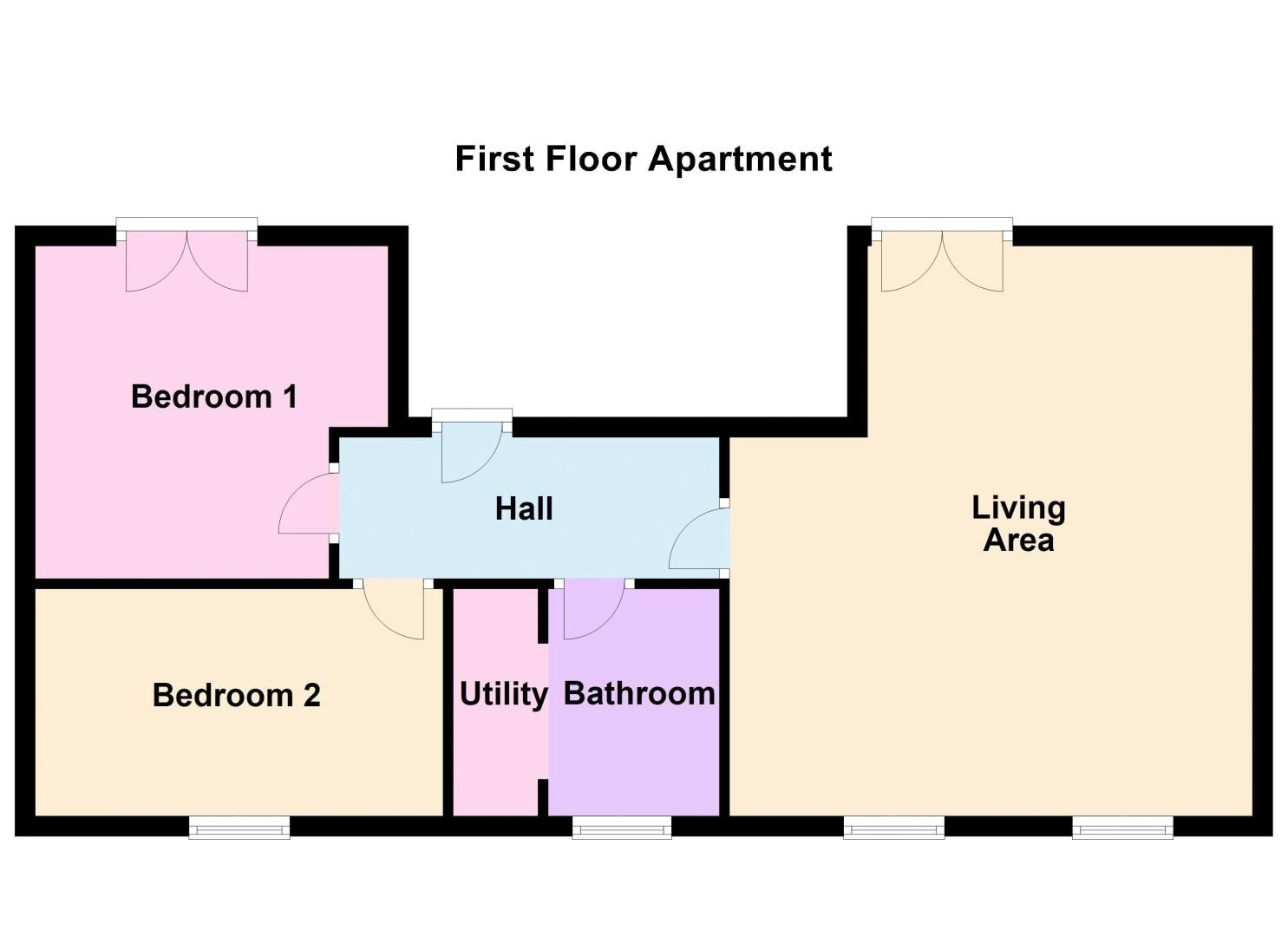 2 bed flat for sale in Silver Hill - Property Floorplan
