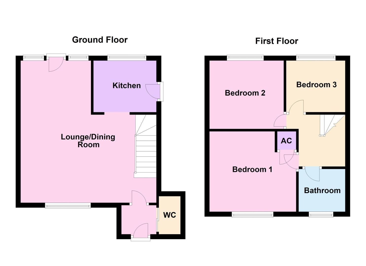 3 bed house for sale in Langford Road - Property Floorplan