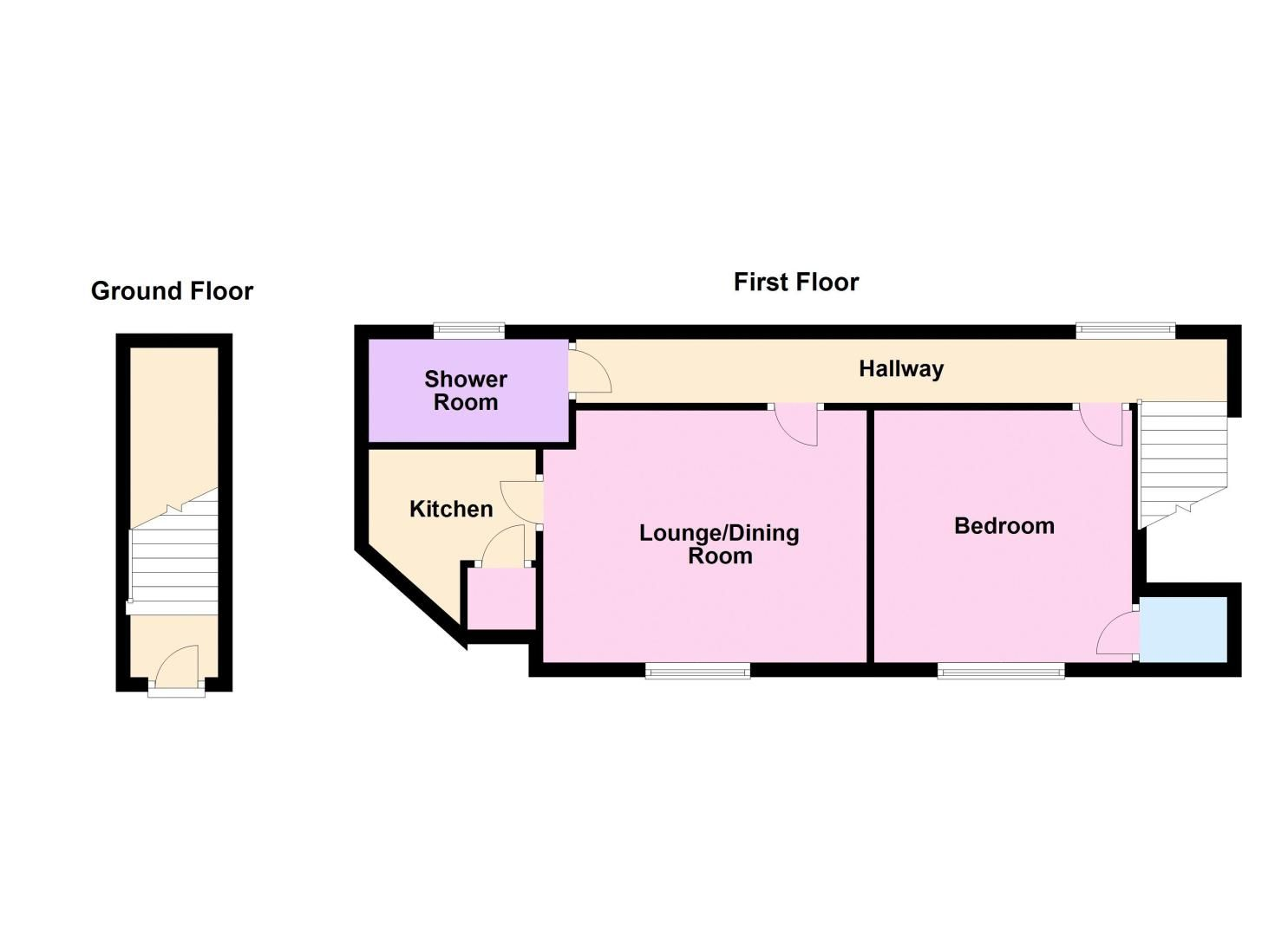 1 bed flat for sale in Barrs Street - Property Floorplan