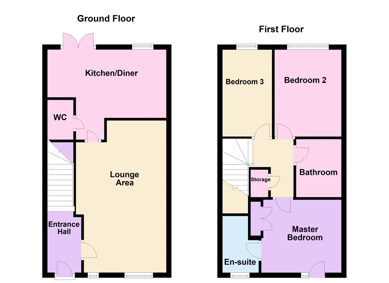 3 bed house for sale in James Avenue - Property Floorplan