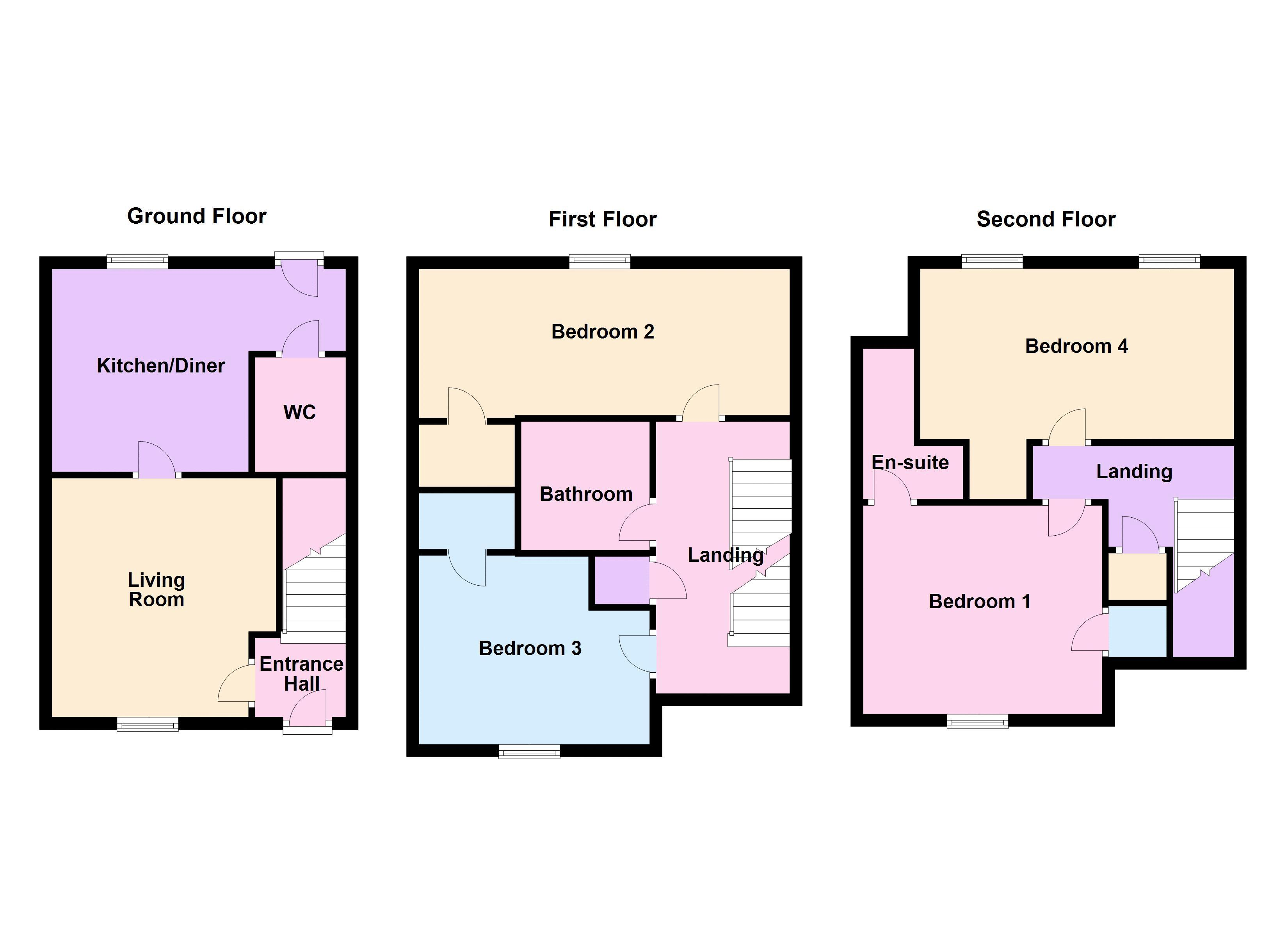 4 bed house for sale in London Road - Property Floorplan