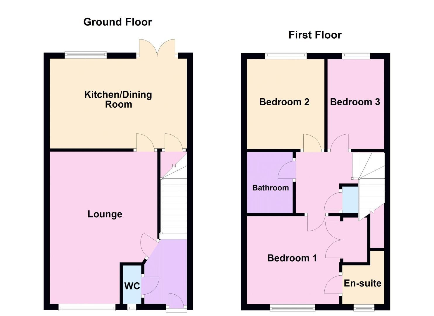 3 bed house for sale in Rudd Close - Property Floorplan
