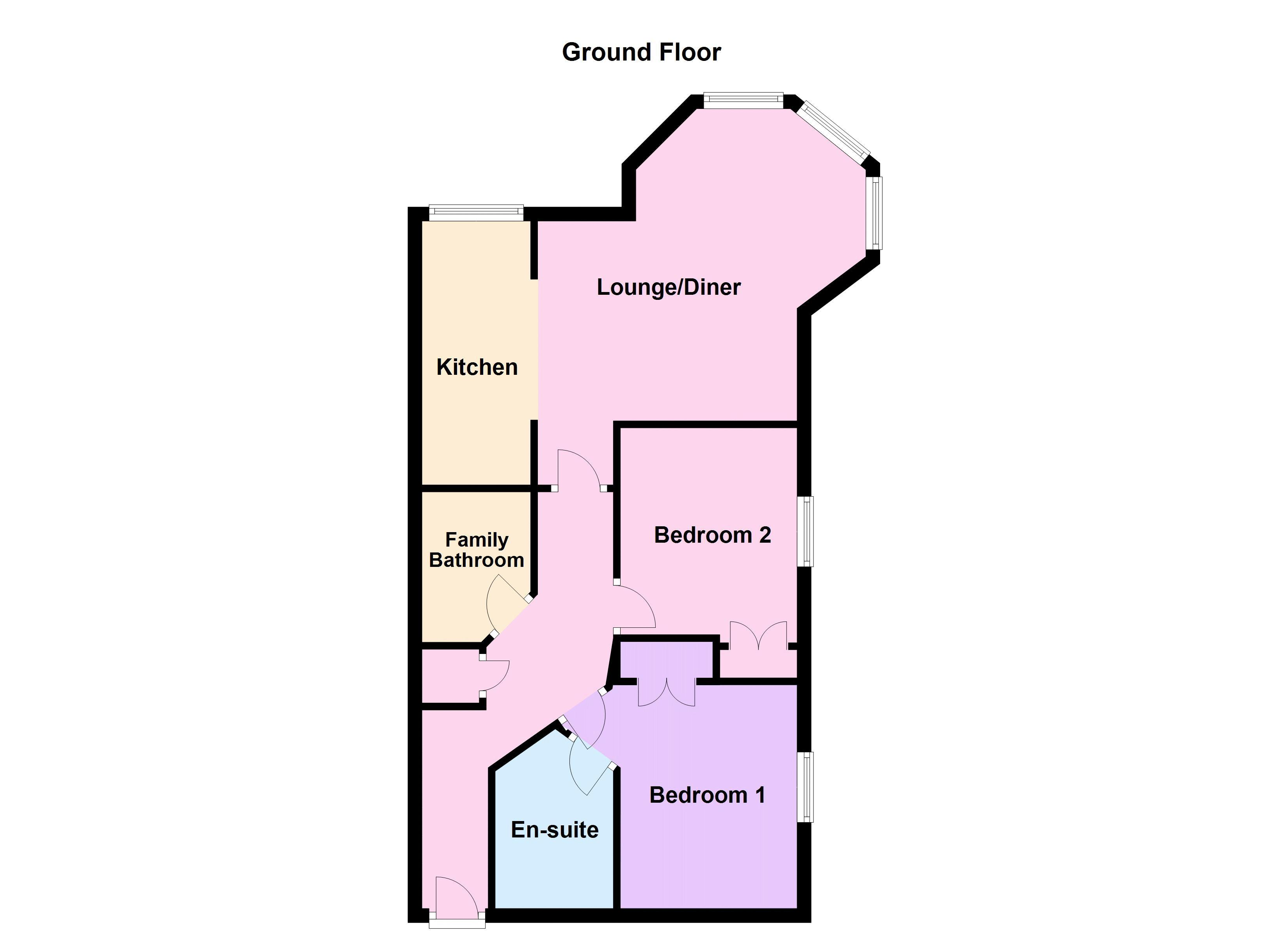2 bed flat for sale in Verde Close - Property Floorplan