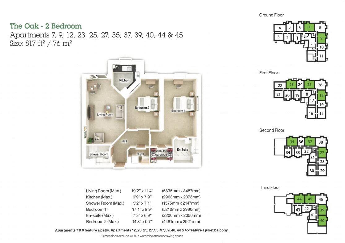 2 bed flat for sale in Kempley Close - Property Floorplan