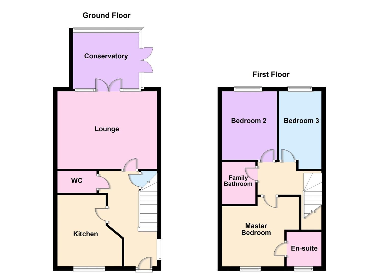 3 bed house for sale in Nairn Drive - Property Floorplan