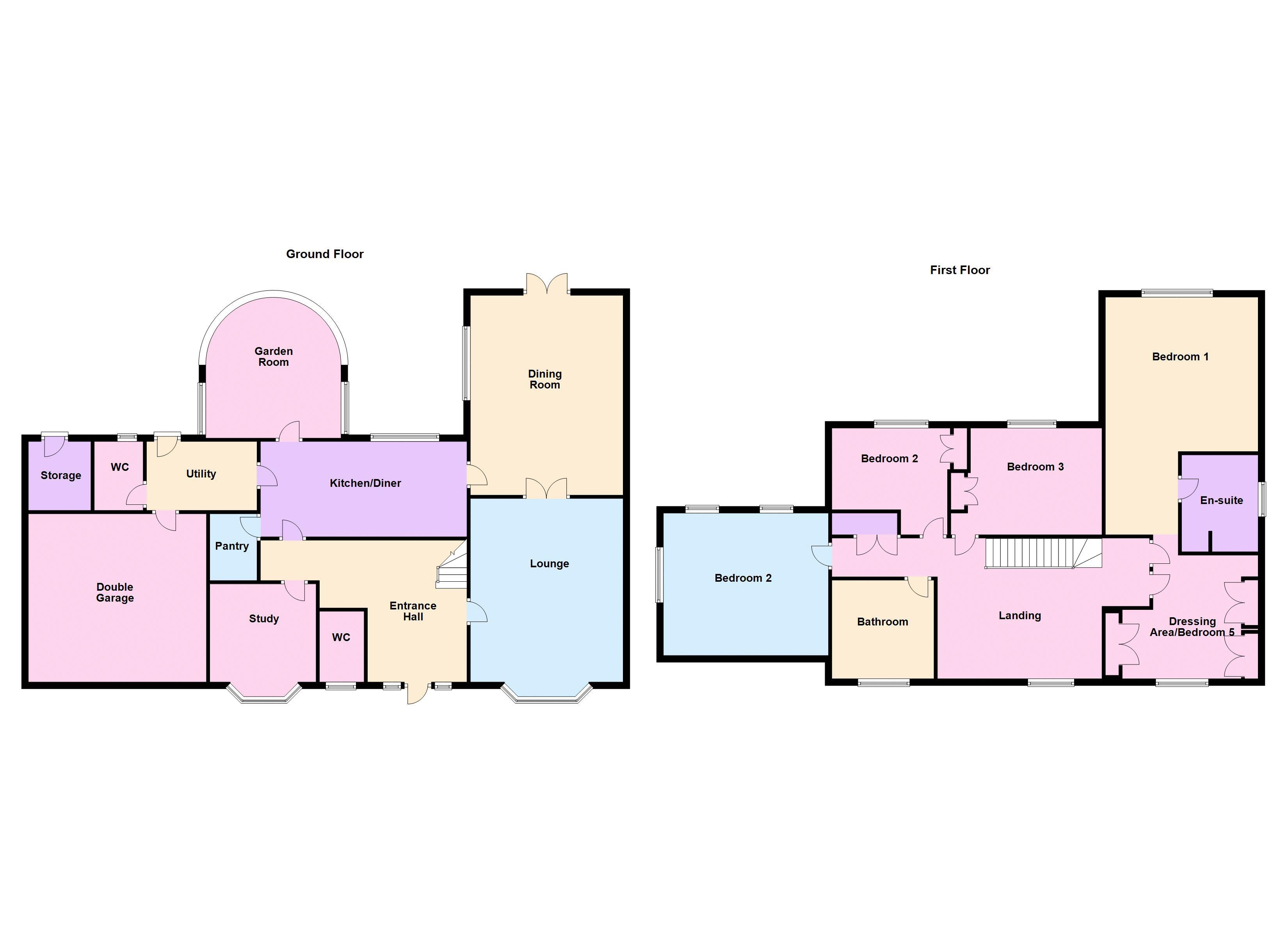 5 bed house for sale in Manor View - Property Floorplan
