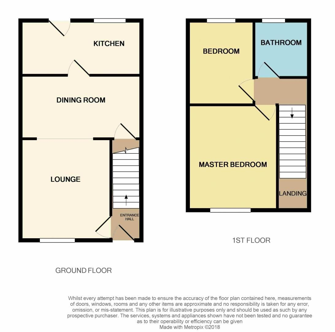 2 bed house for sale in Montagu Road - Property Floorplan