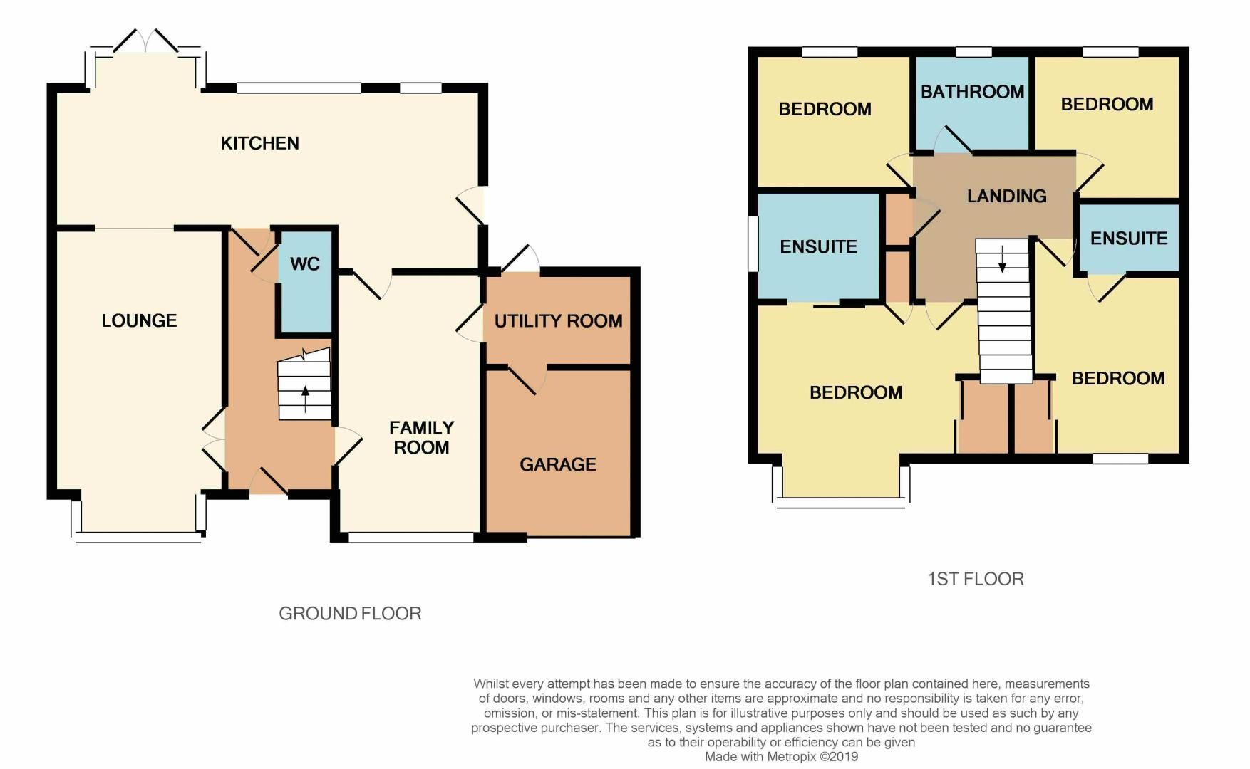 4 bed house for sale in Park Farm Way - Property Floorplan