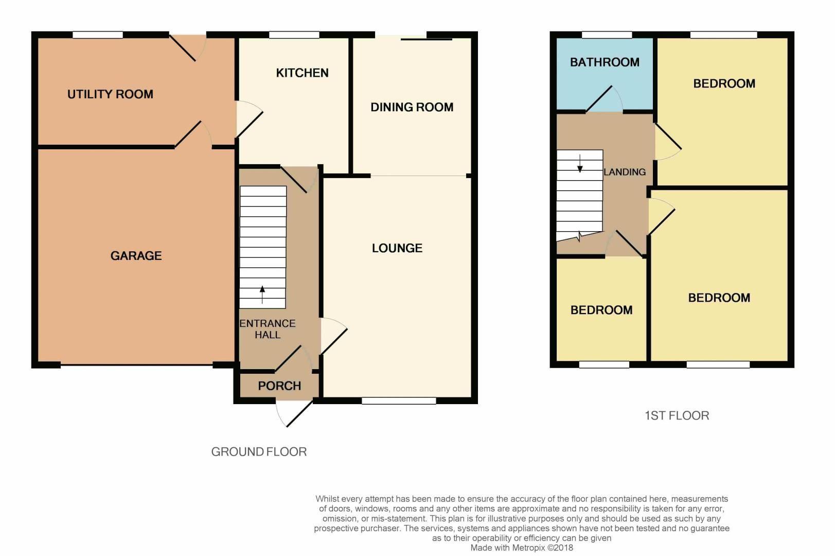 3 bed house for sale in Norman Drive - Property Floorplan