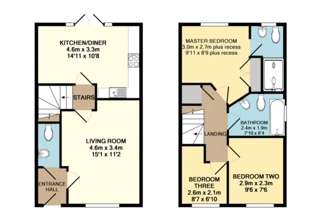 3 bed house to rent in Flinders Drive - Property Floorplan