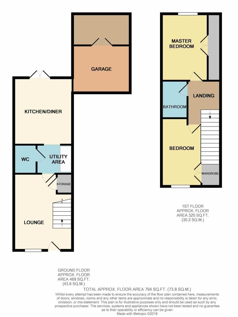 2 bed house to rent in Shipton Grove - Property Floorplan