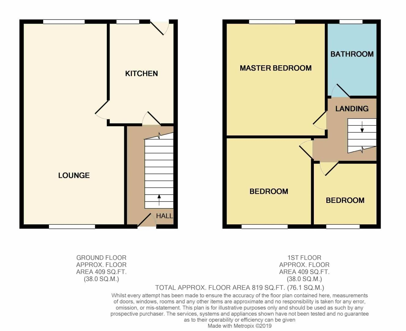 3 bed house for sale in Highfield Walk - Property Floorplan