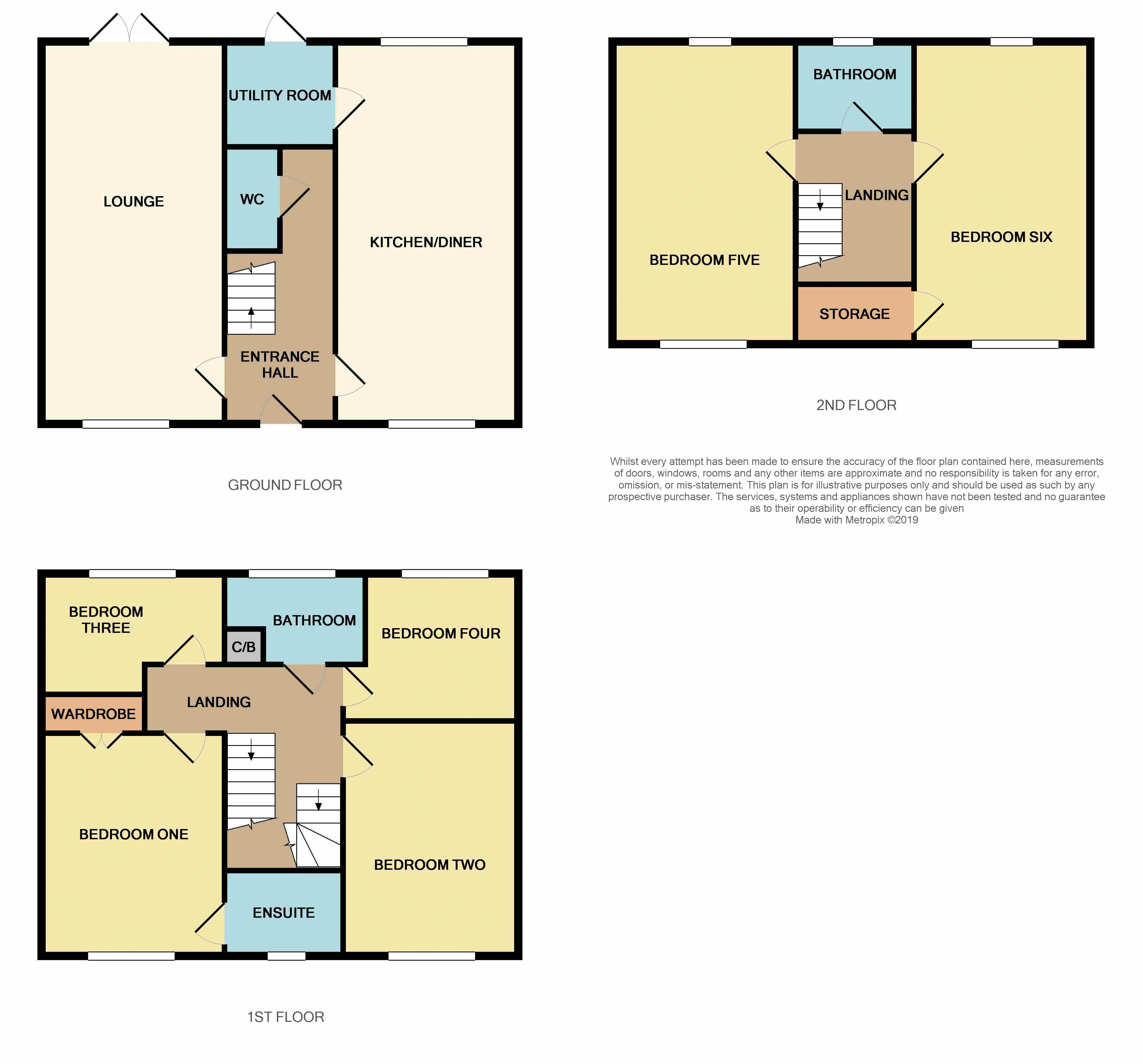 6 bed house for sale in Ferndale - Property Floorplan