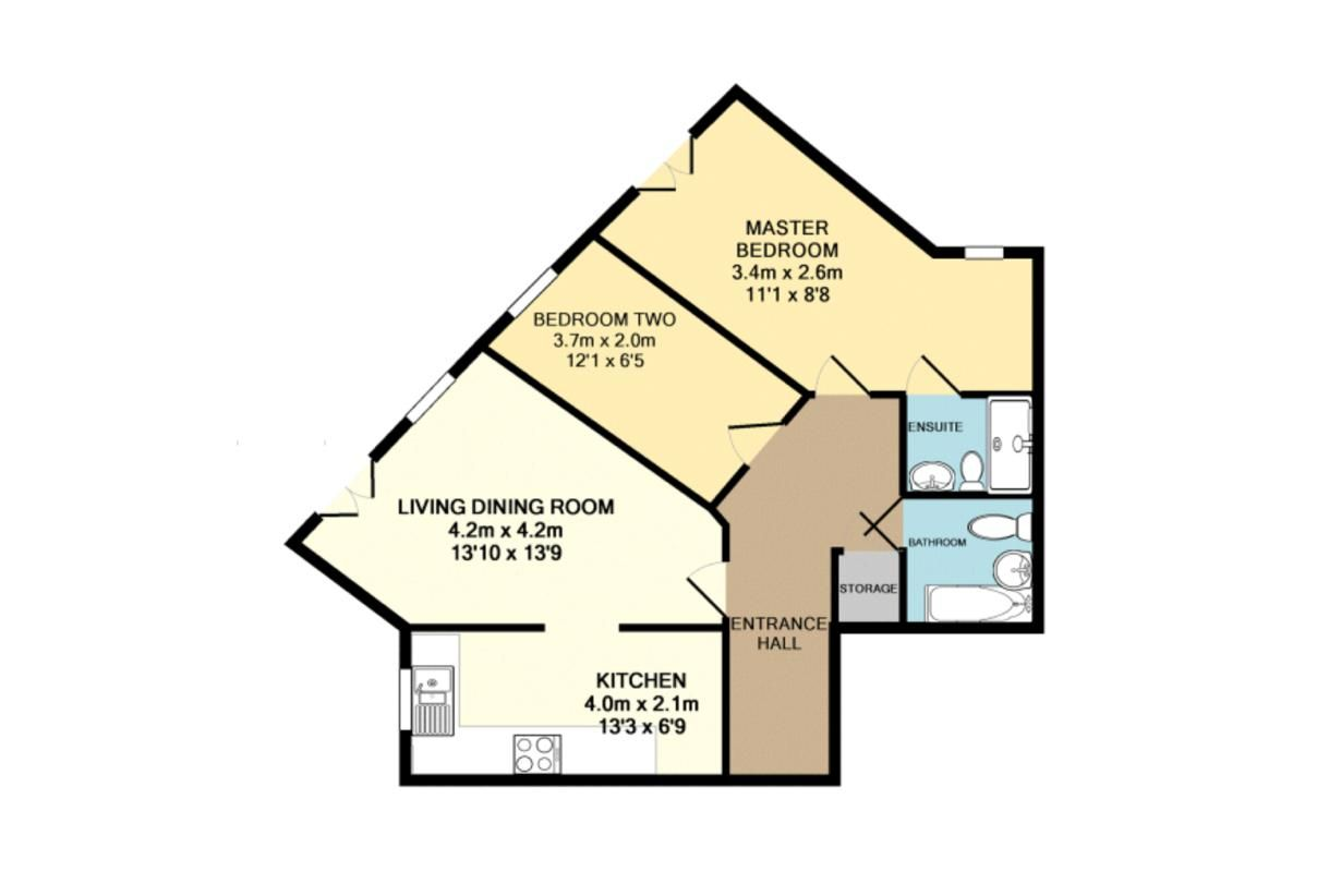 2 bed flat to rent in Eagle Way - Property Floorplan