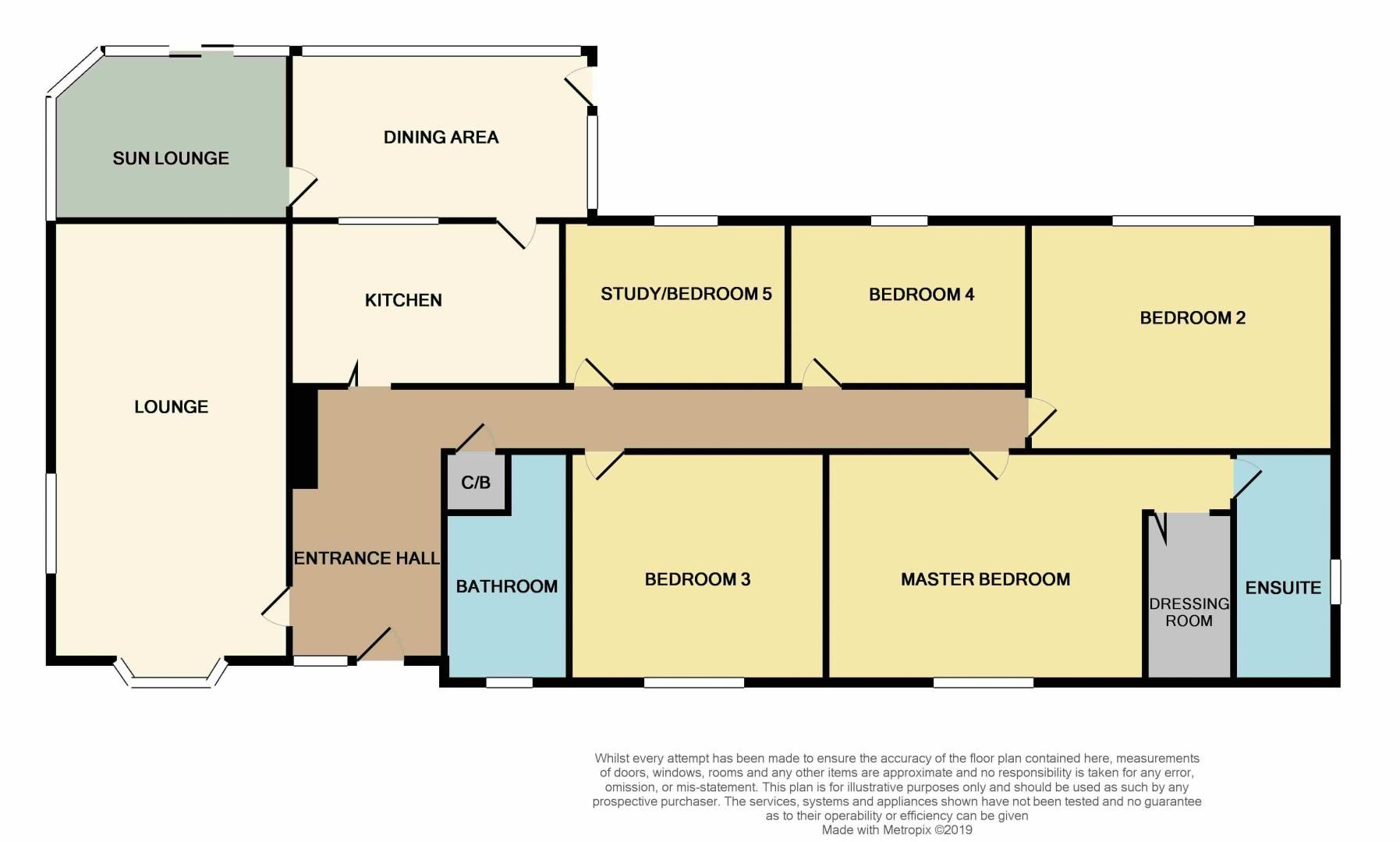 4 bed bungalow for sale in New Meadow Drove - Property Floorplan