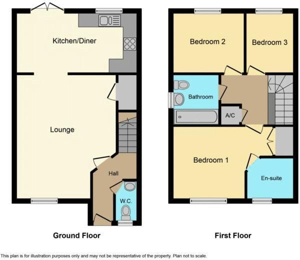 3 bed  to rent in Saxonbury Way - Property Floorplan