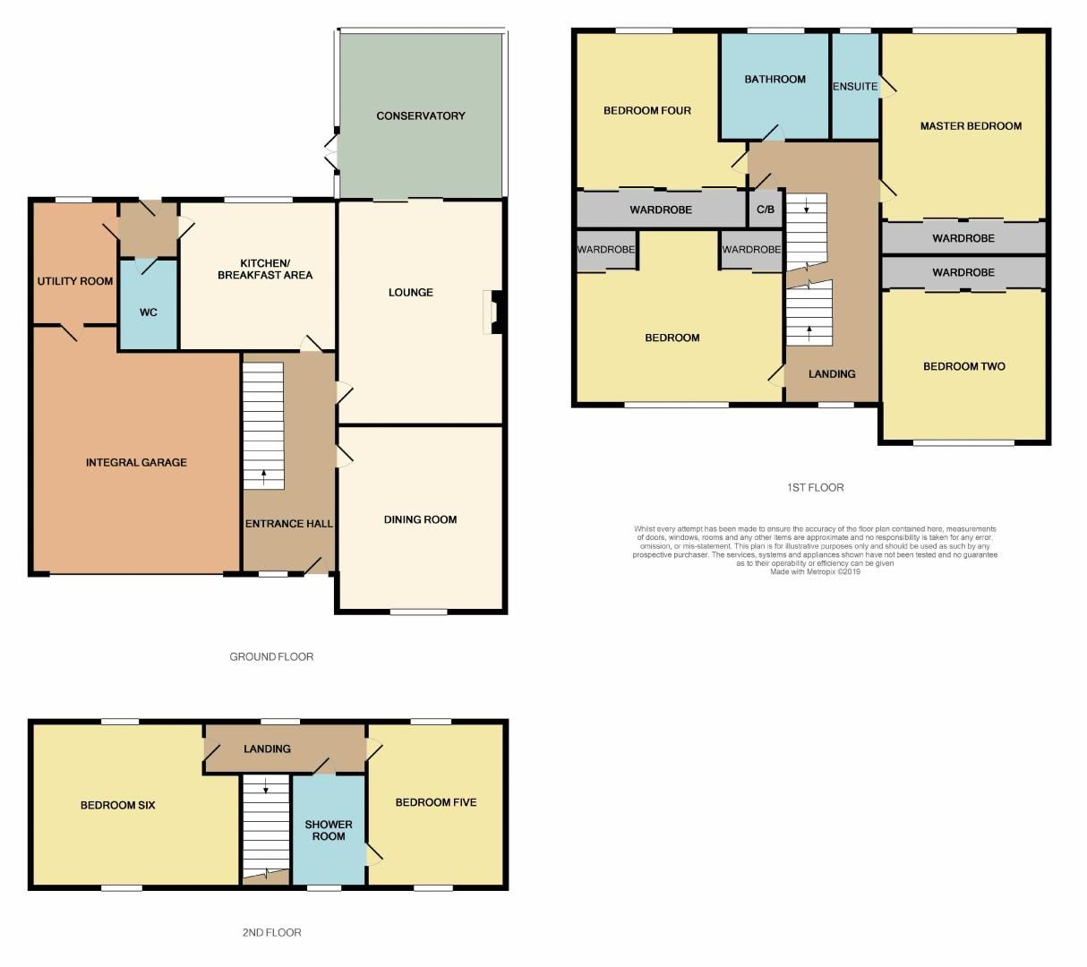 6 bed house for sale in Nursery Gardens - Property Floorplan