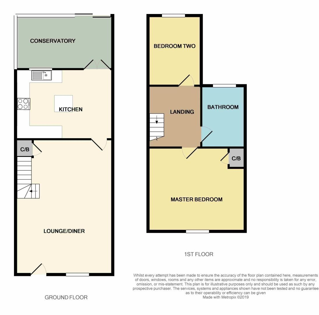 2 bed house for sale in Stonald Road - Property Floorplan