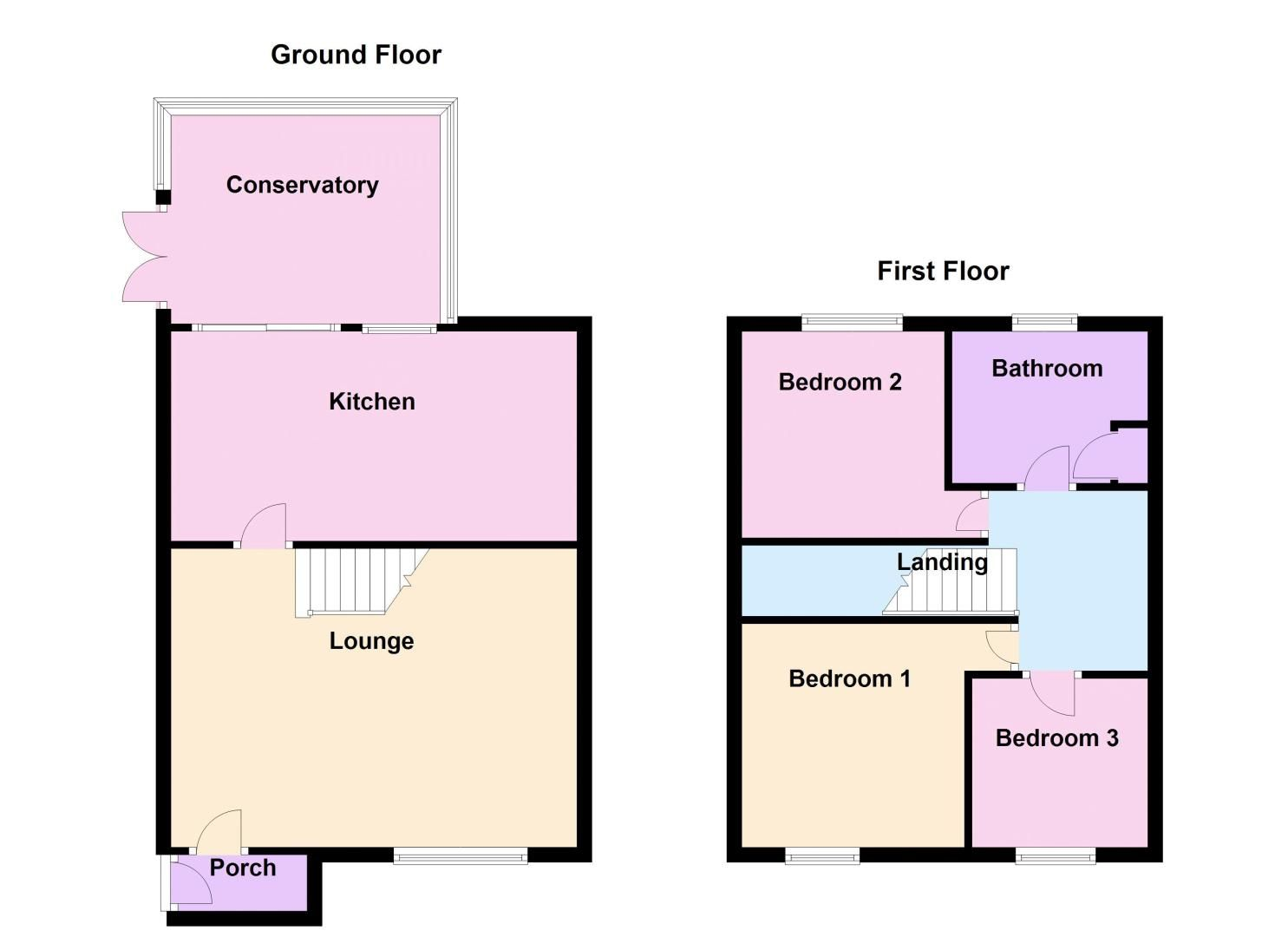 3 bed house for sale in Middle Pasture - Property Floorplan