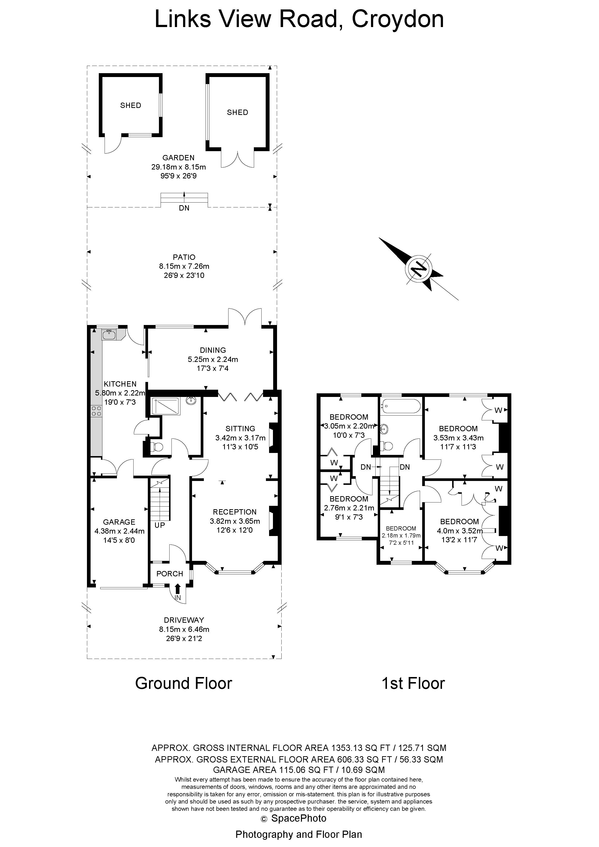 5 bed house for sale in Links View Road - Property Floorplan