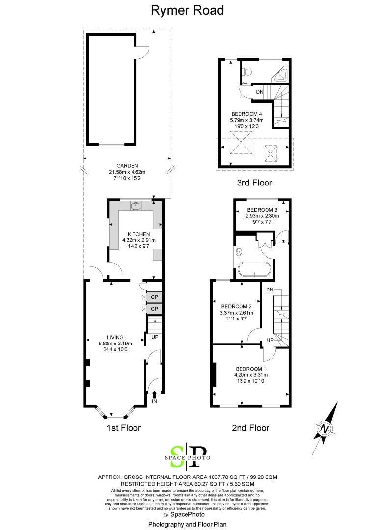 4 bed house to rent in Rymer Road - Property Floorplan