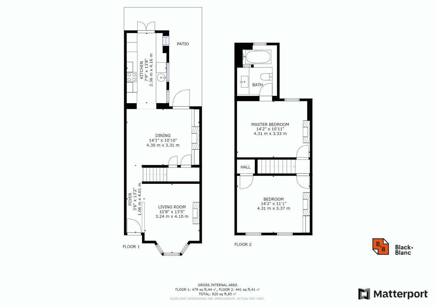 2 bed house for sale in Alexandra Road - Property Floorplan