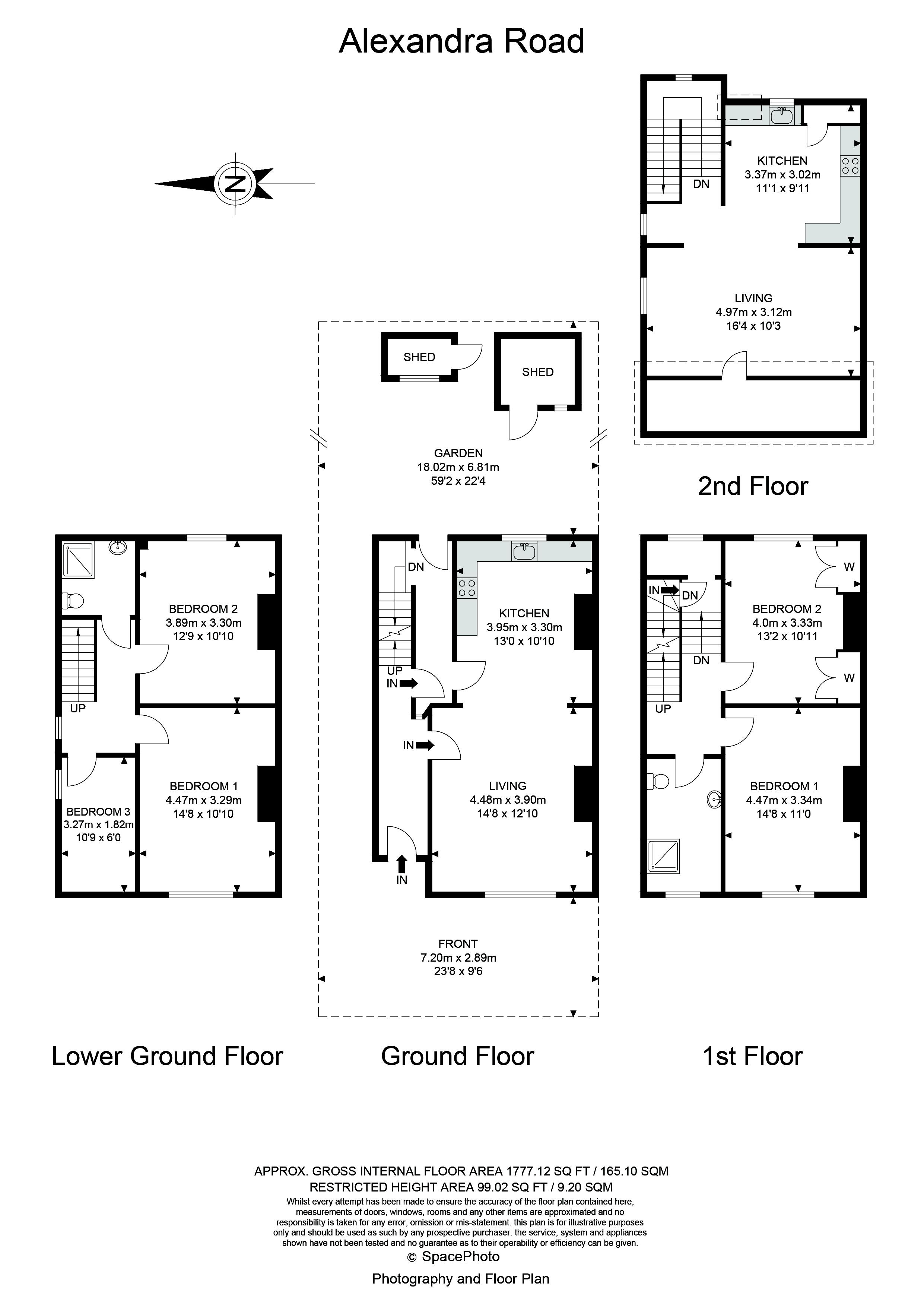 5 bed house for sale in Alexandra Road - Property Floorplan