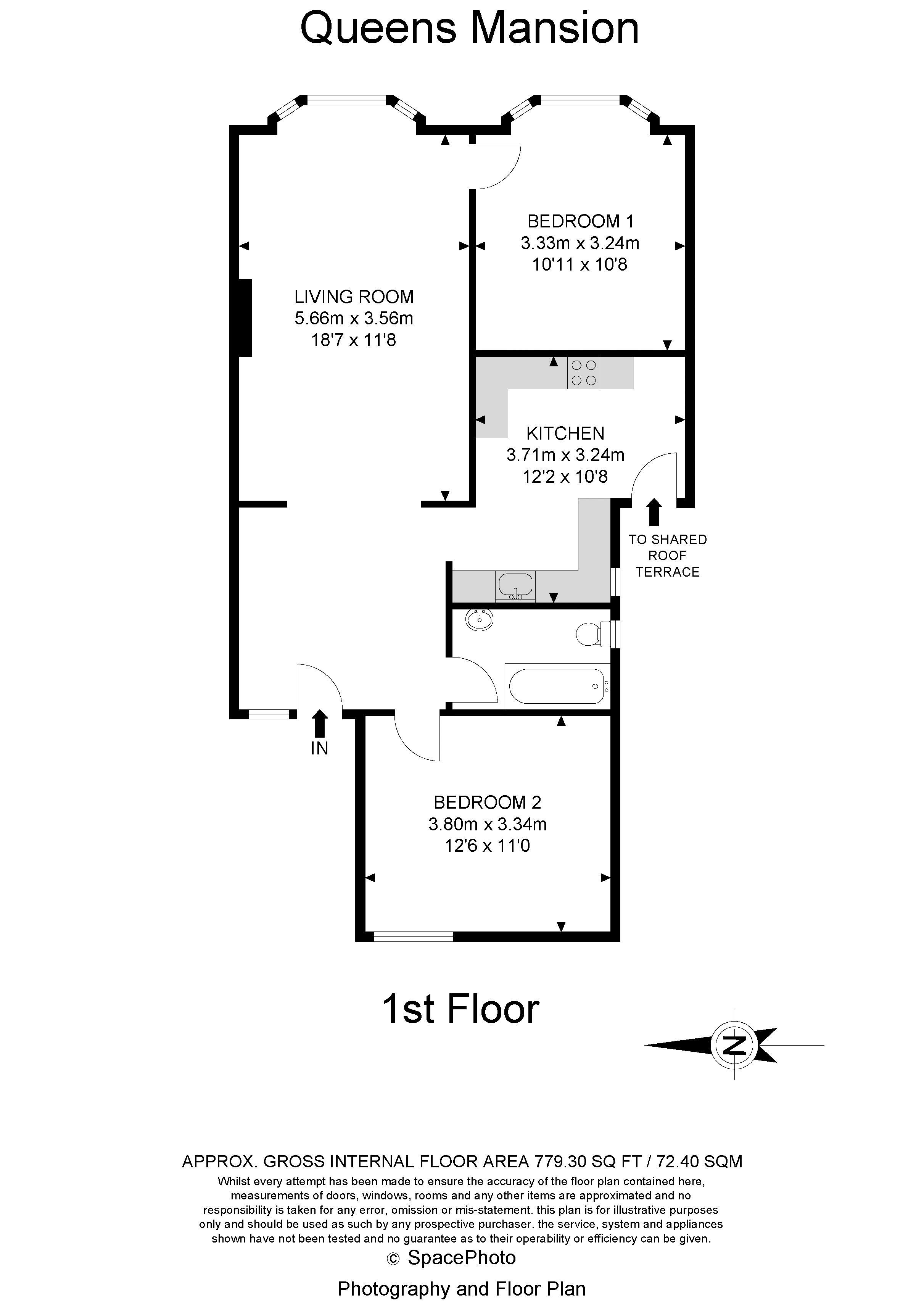 2 bed  to rent in Brighton road - Property Floorplan