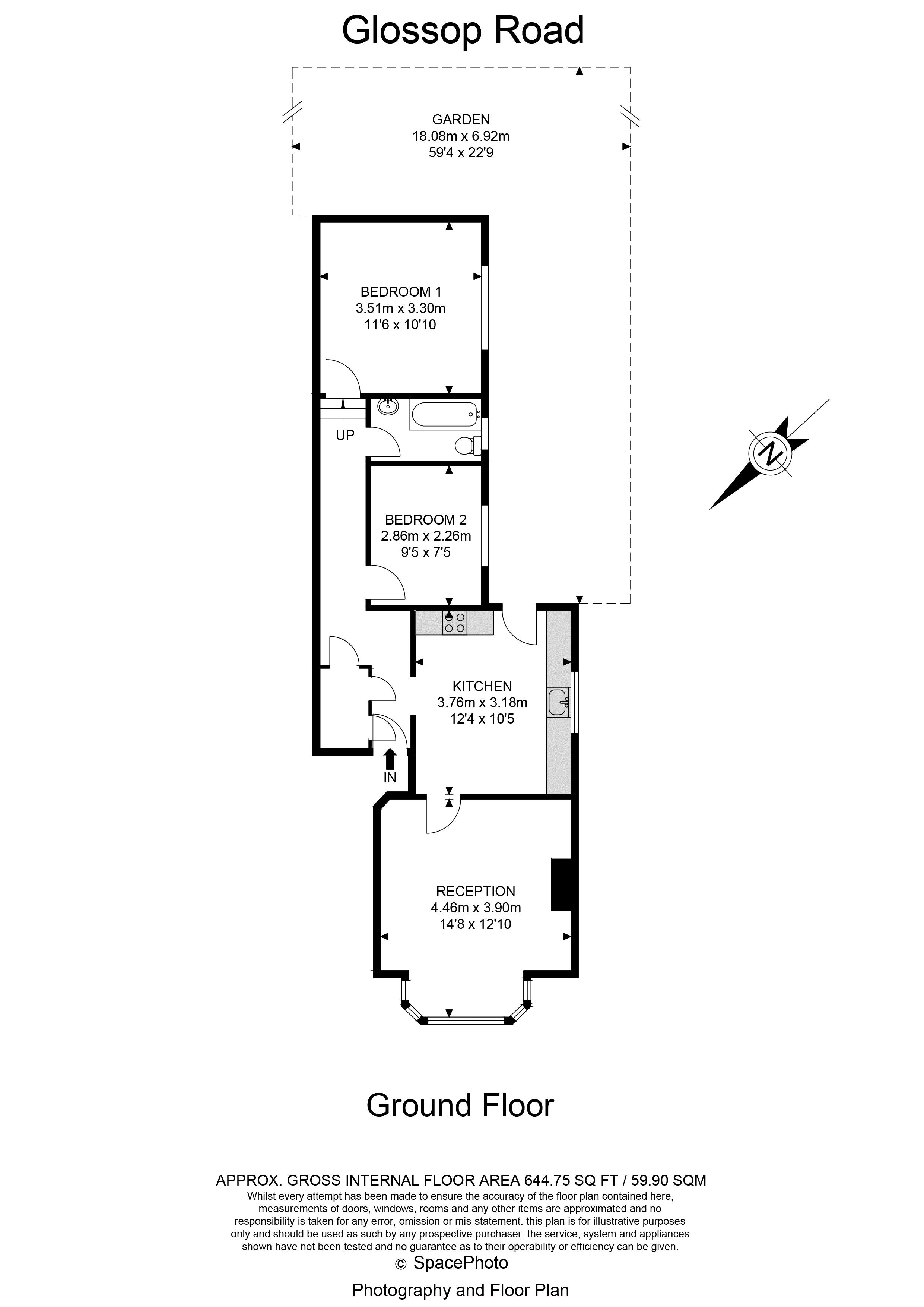 2 bed flat for sale in Glossop Road - Property Floorplan