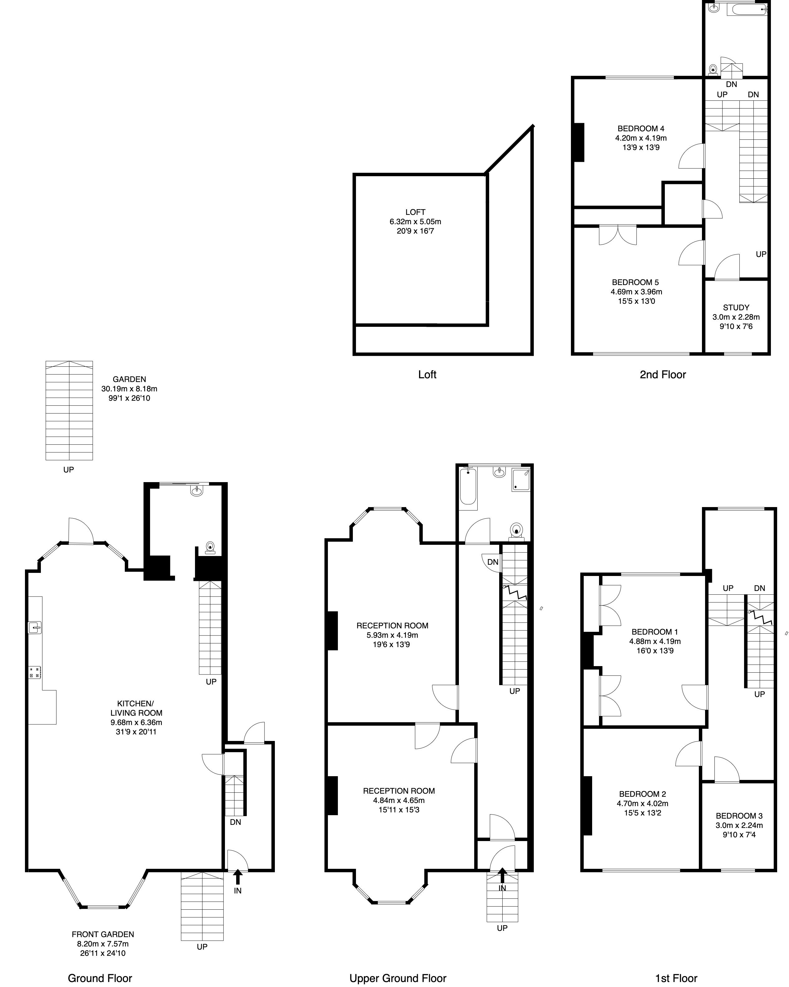 5 bed house for sale in Canning Road - Property Floorplan