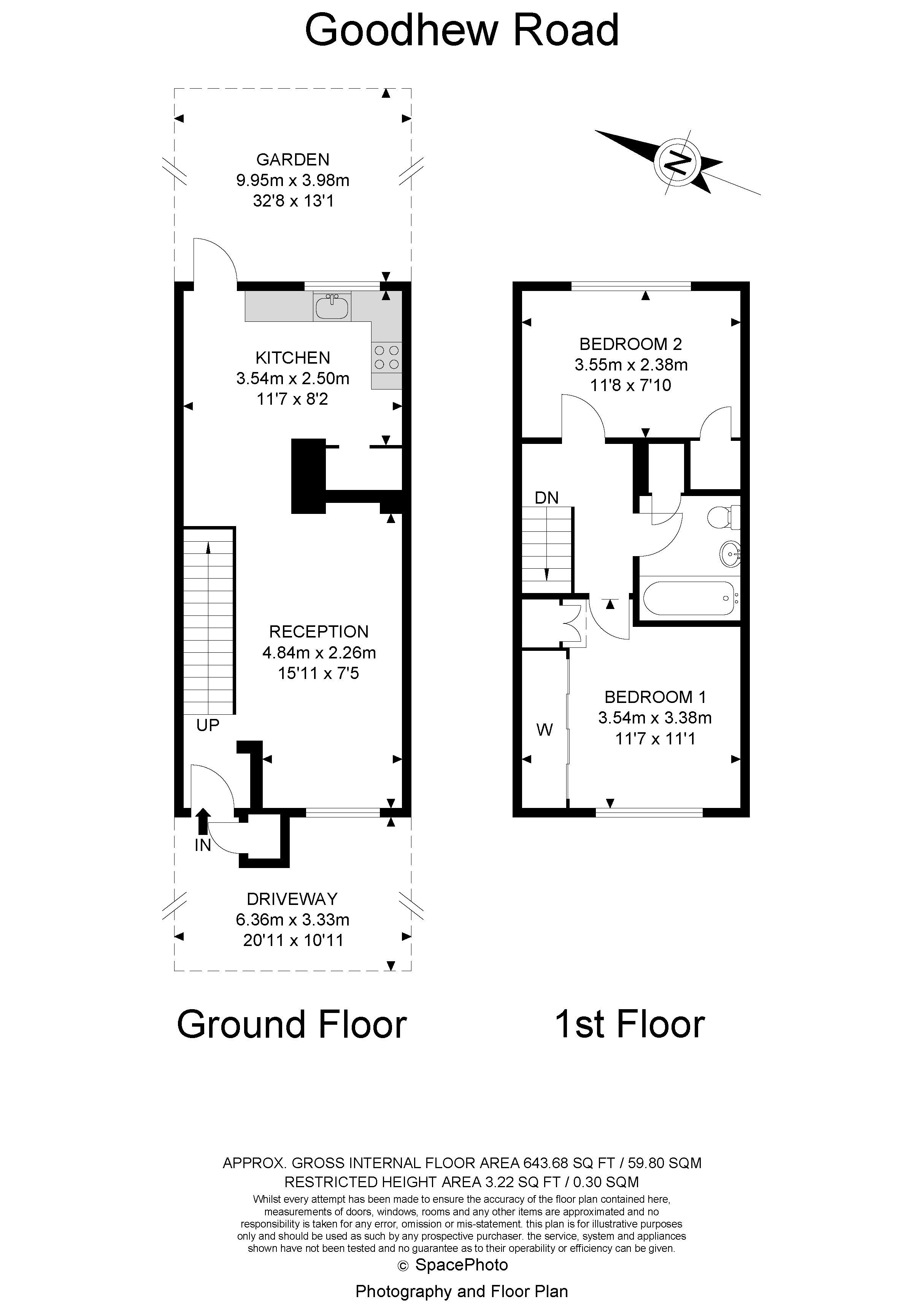 2 bed house to rent in Goodhew Road - Property Floorplan