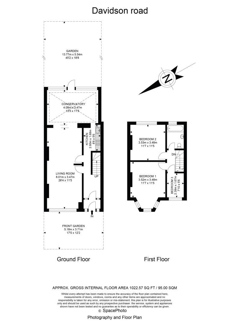 3 bed house for sale in Davidson Road - Property Floorplan