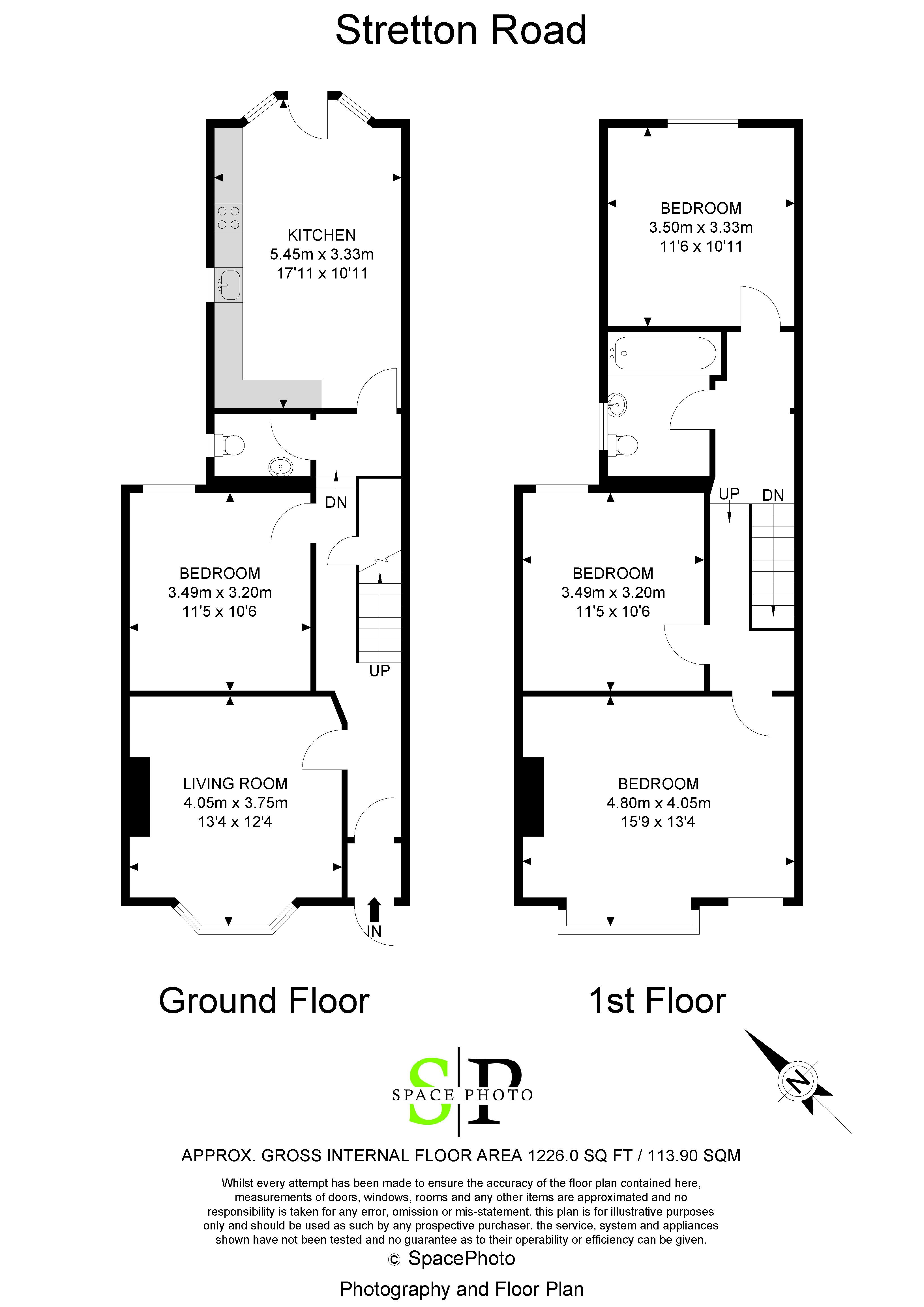 3 bed house for sale in Stretton Road - Property Floorplan