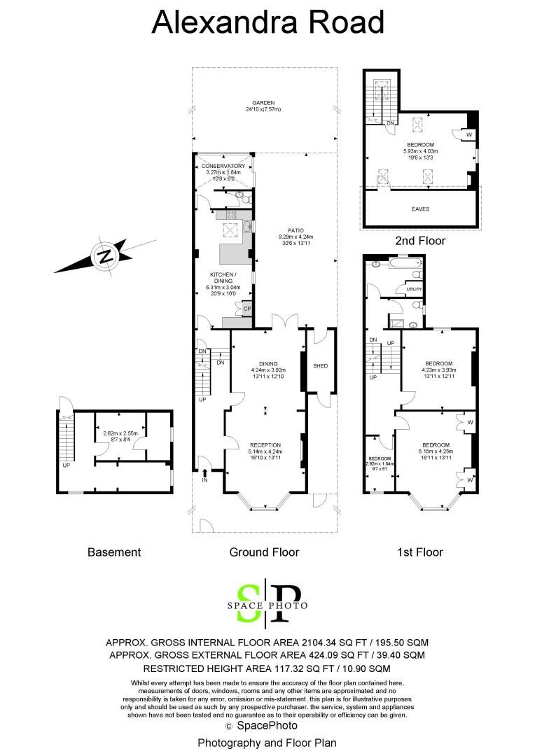 4 bed house to rent in Alexandra Road - Property Floorplan