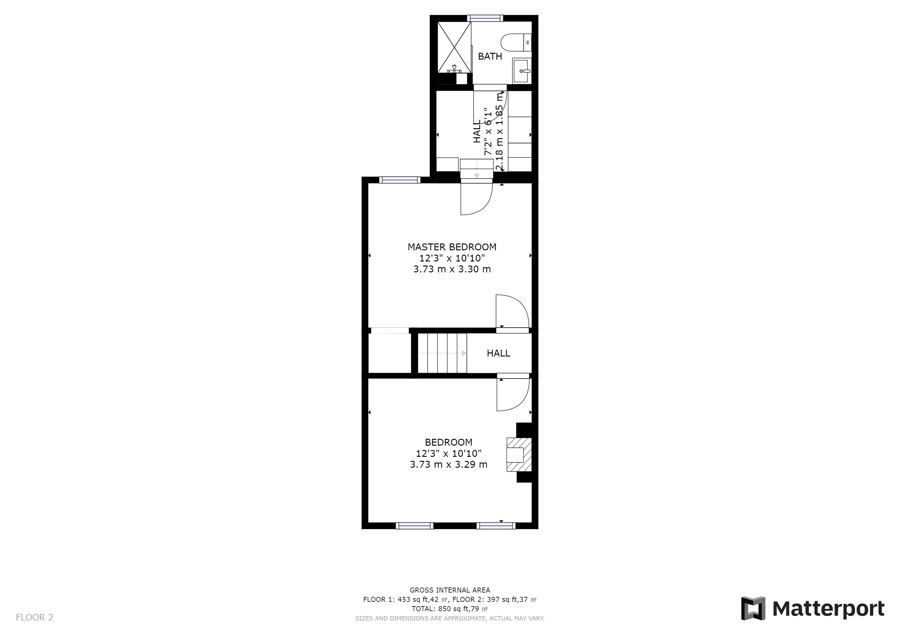 2 bed house to rent in Davidson Road - Property Floorplan
