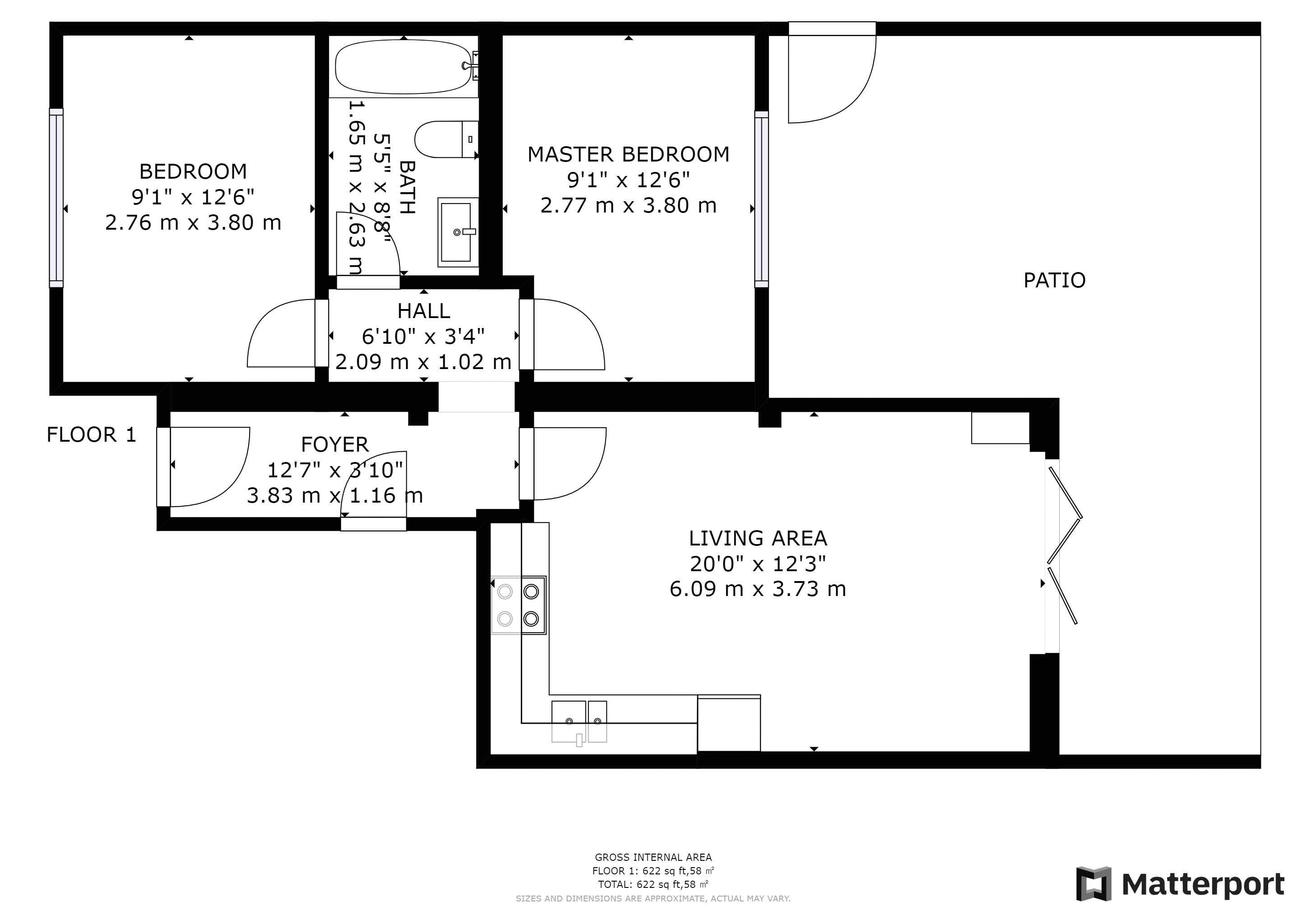 2 bed flat for sale in Northampton Road - Property Floorplan