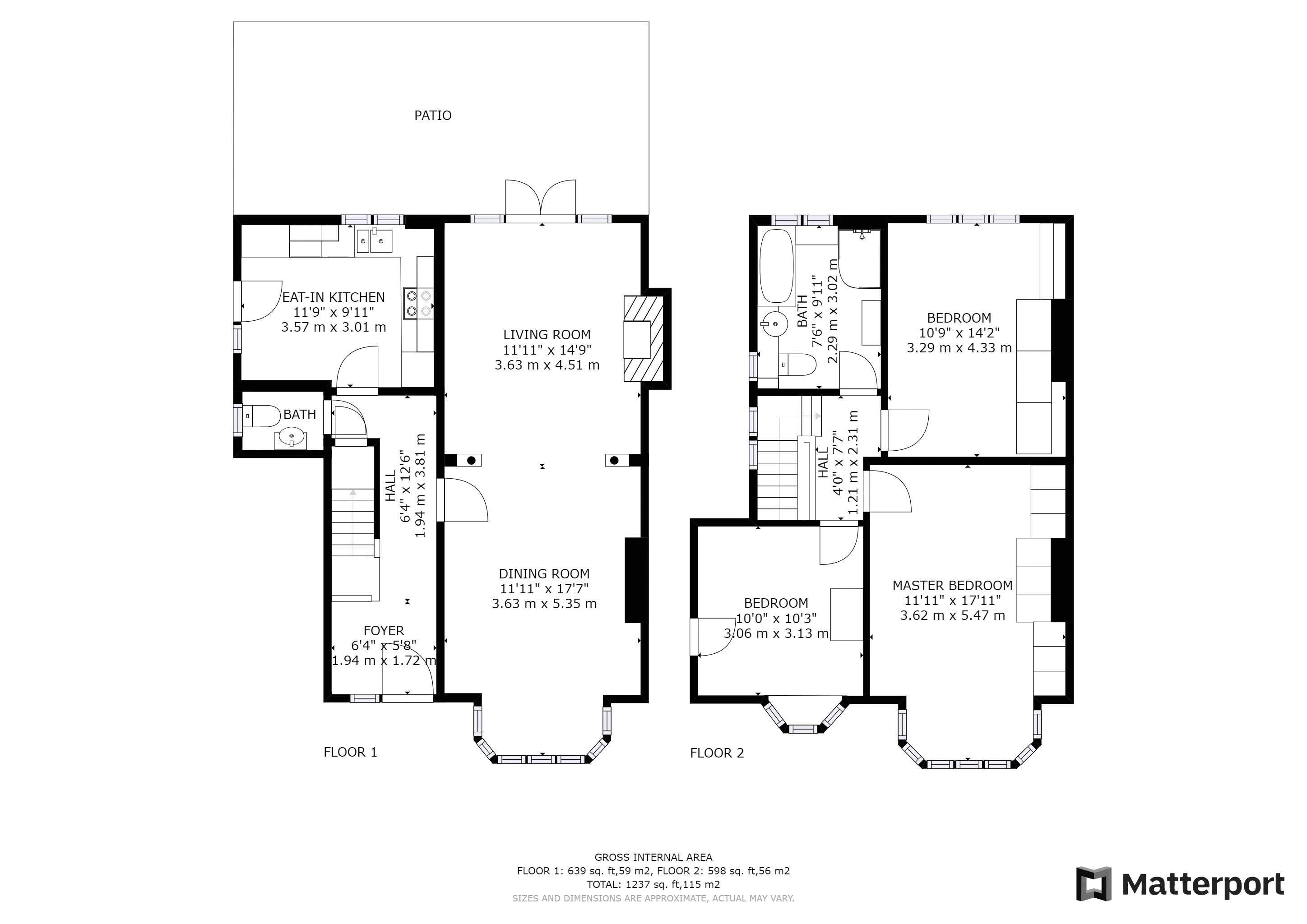 3 bed house for sale in Village Way - Property Floorplan