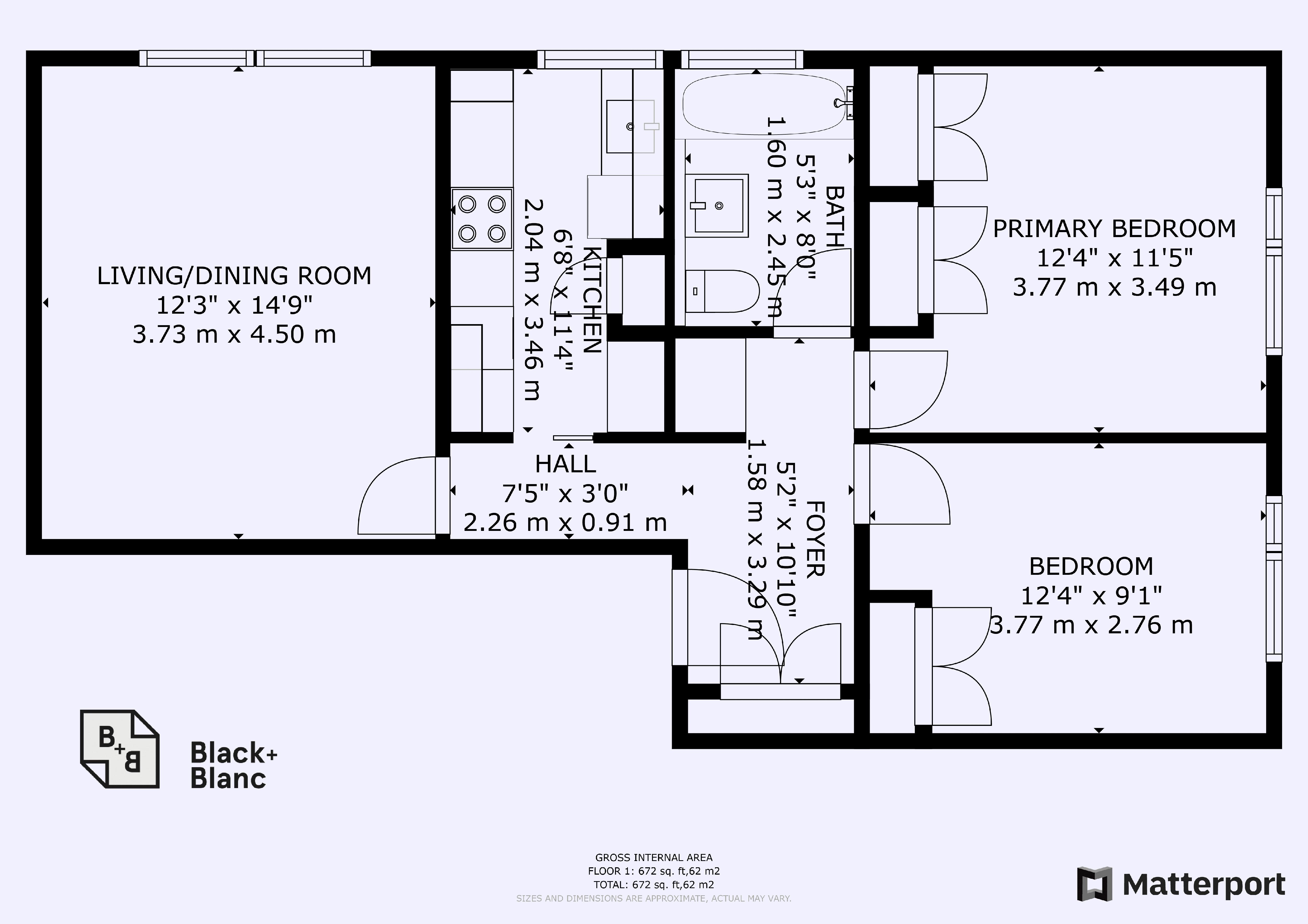 2 bed flat for sale in Morland Road - Property Floorplan