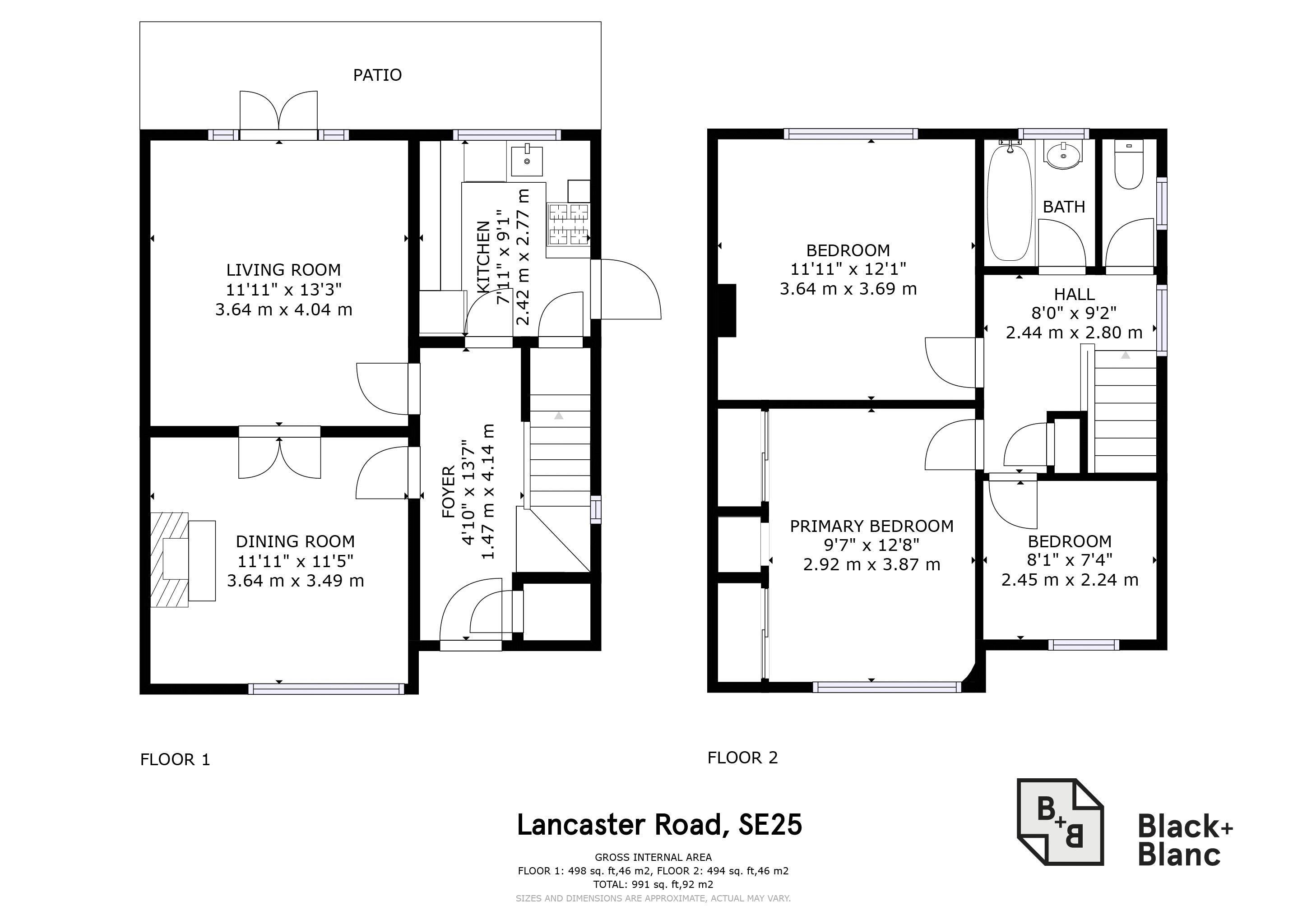 3 bed house for sale in Lancaster Road - Property Floorplan