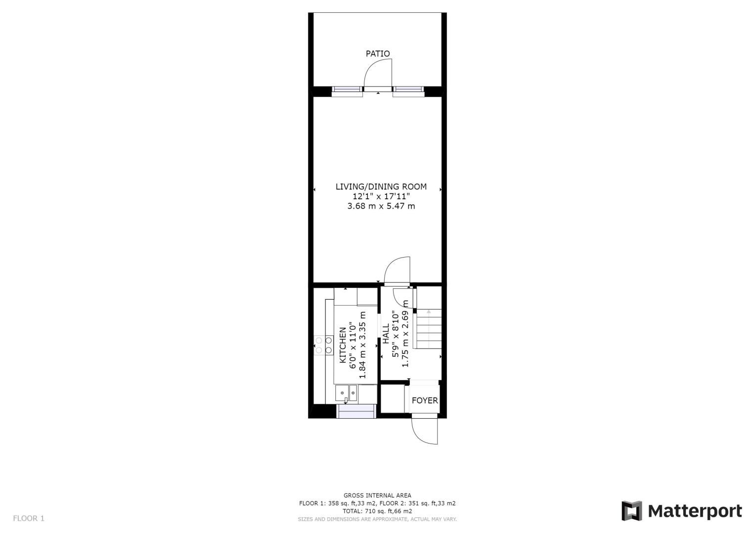 2 bed house for sale in St. Lukes Close - Property Floorplan