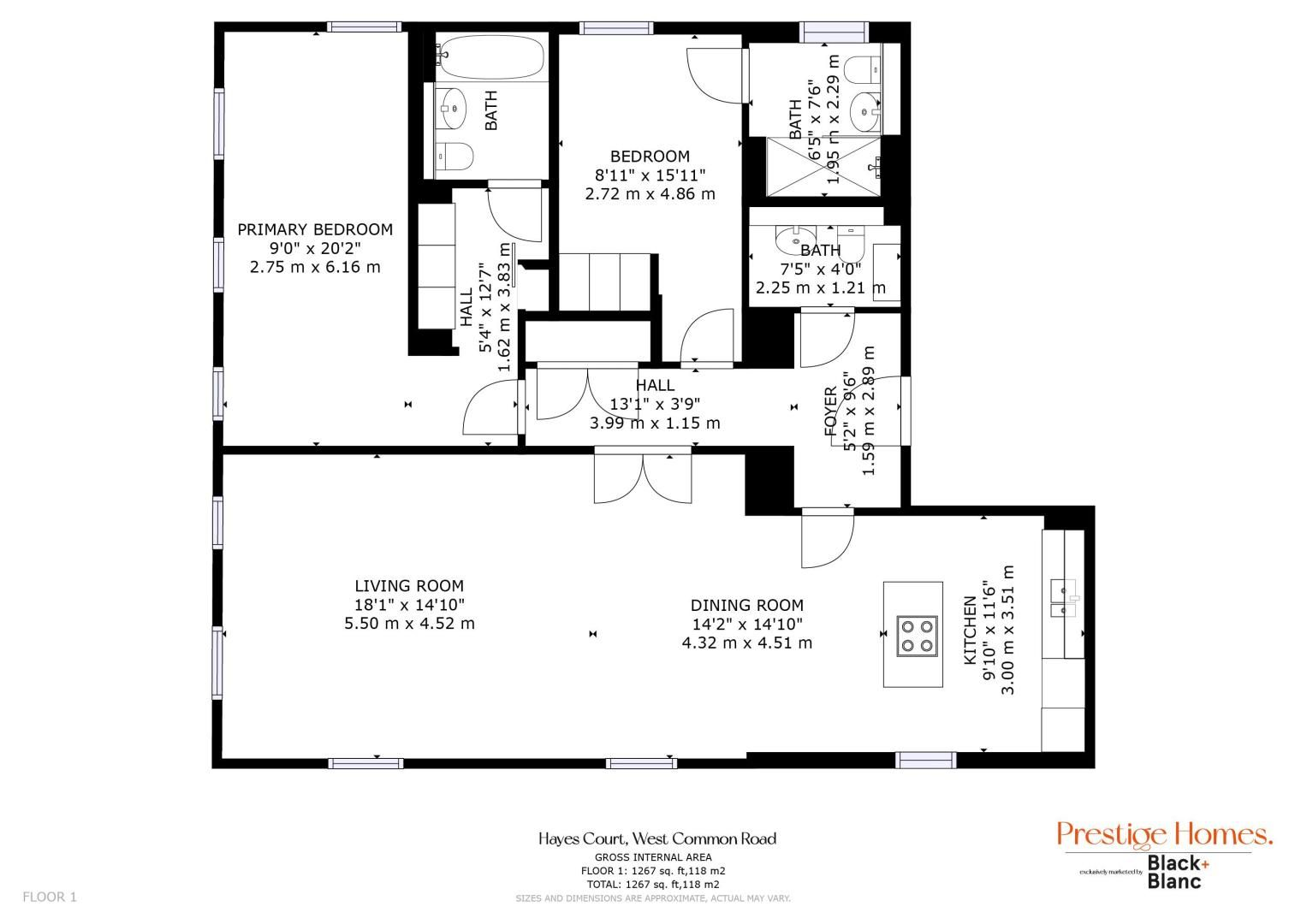 2 bed flat for sale in West Common Road - Property Floorplan