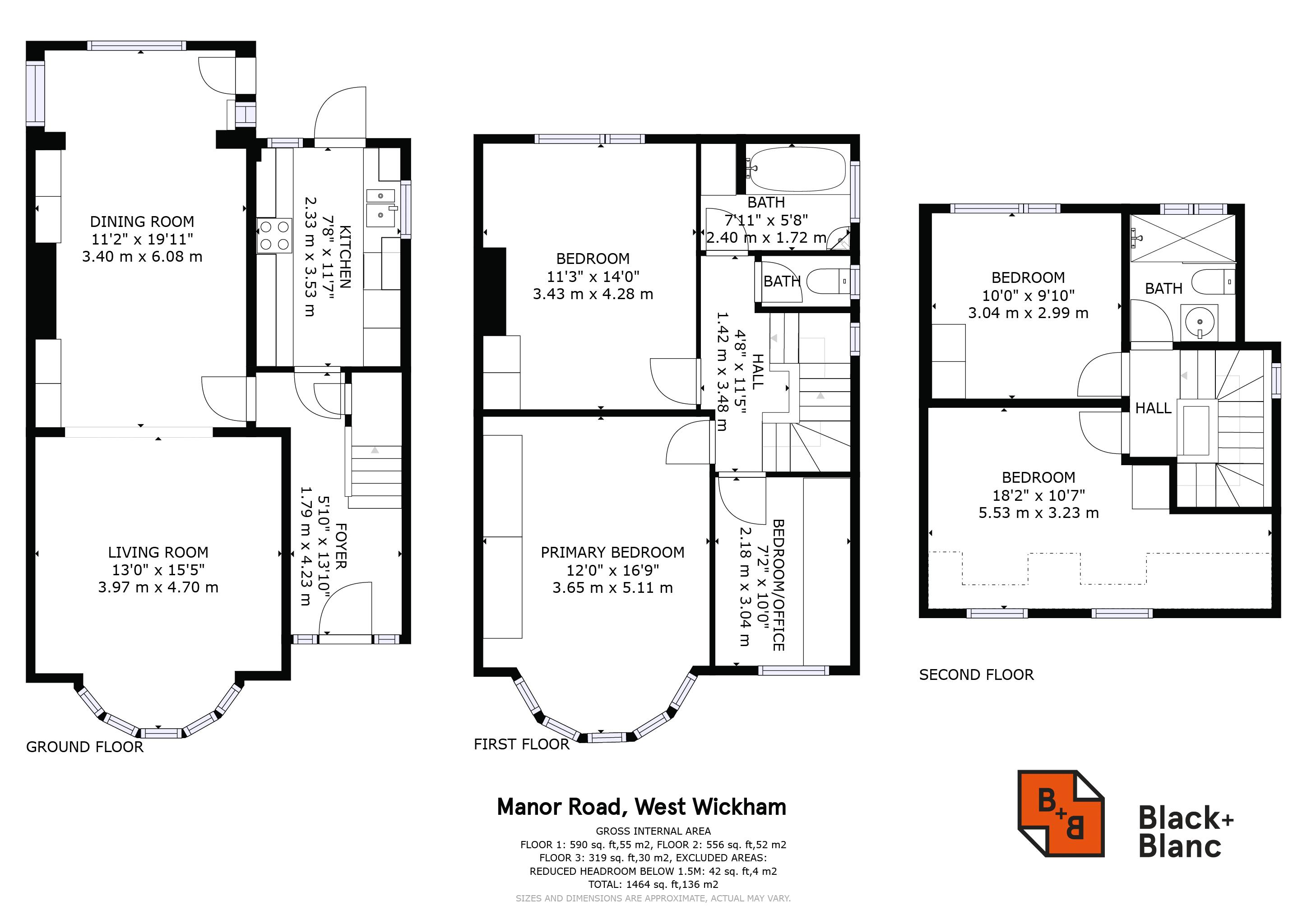 5 bed house for sale in Manor Road - Property Floorplan