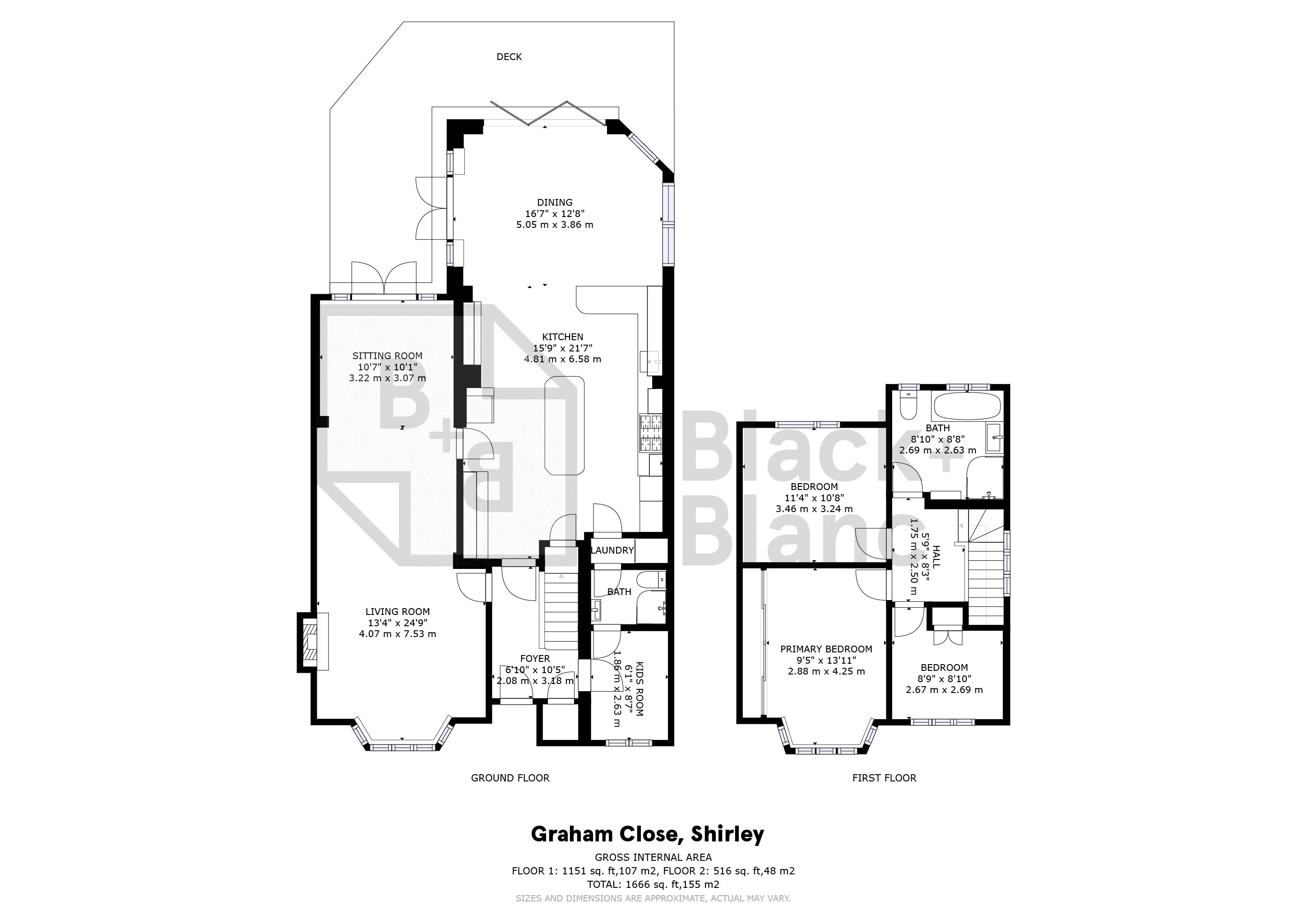 3 bed house for sale in Graham Close - Property Floorplan