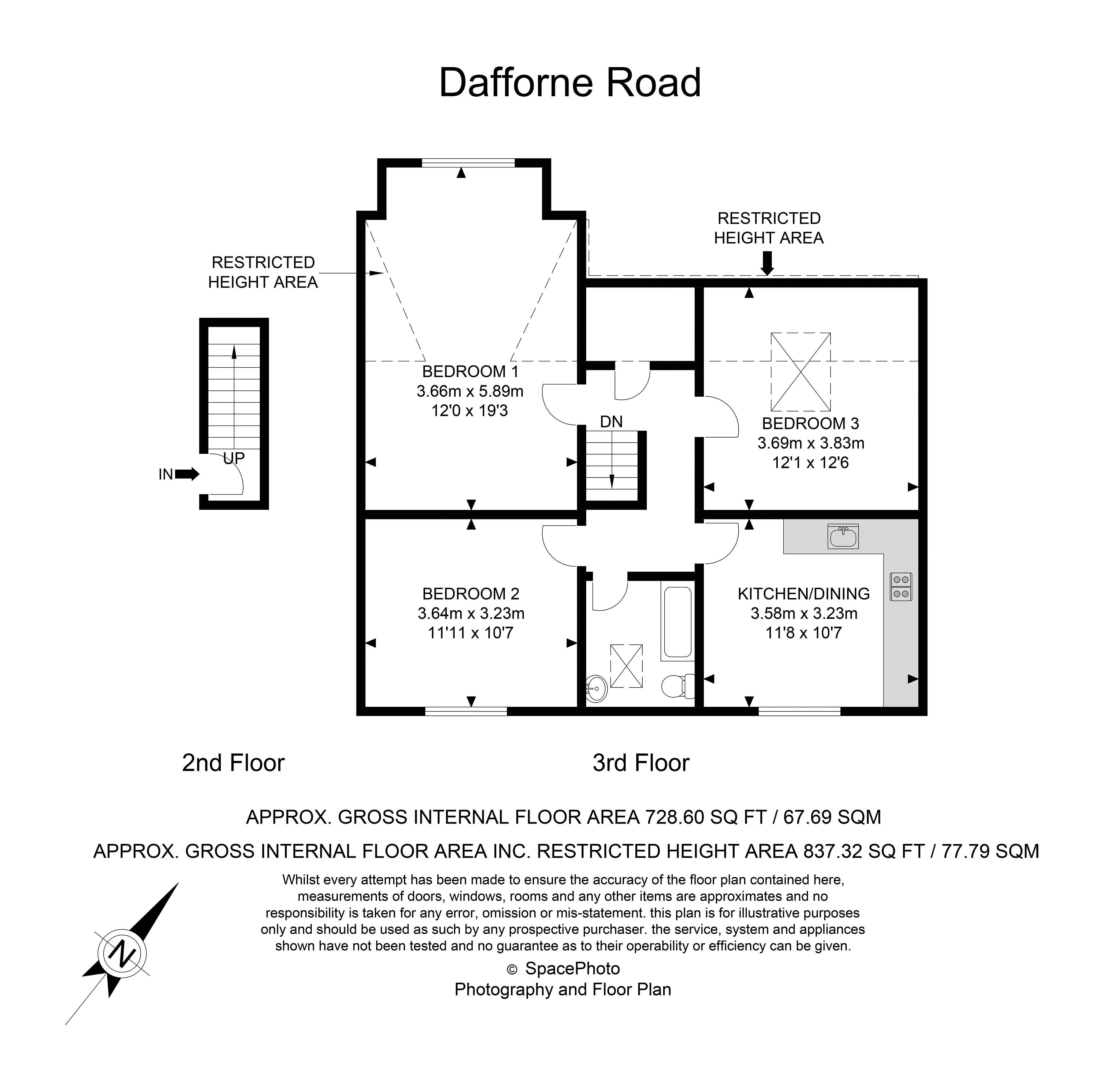 2 bed flat for sale in 6 Dafforne Road - Property Floorplan