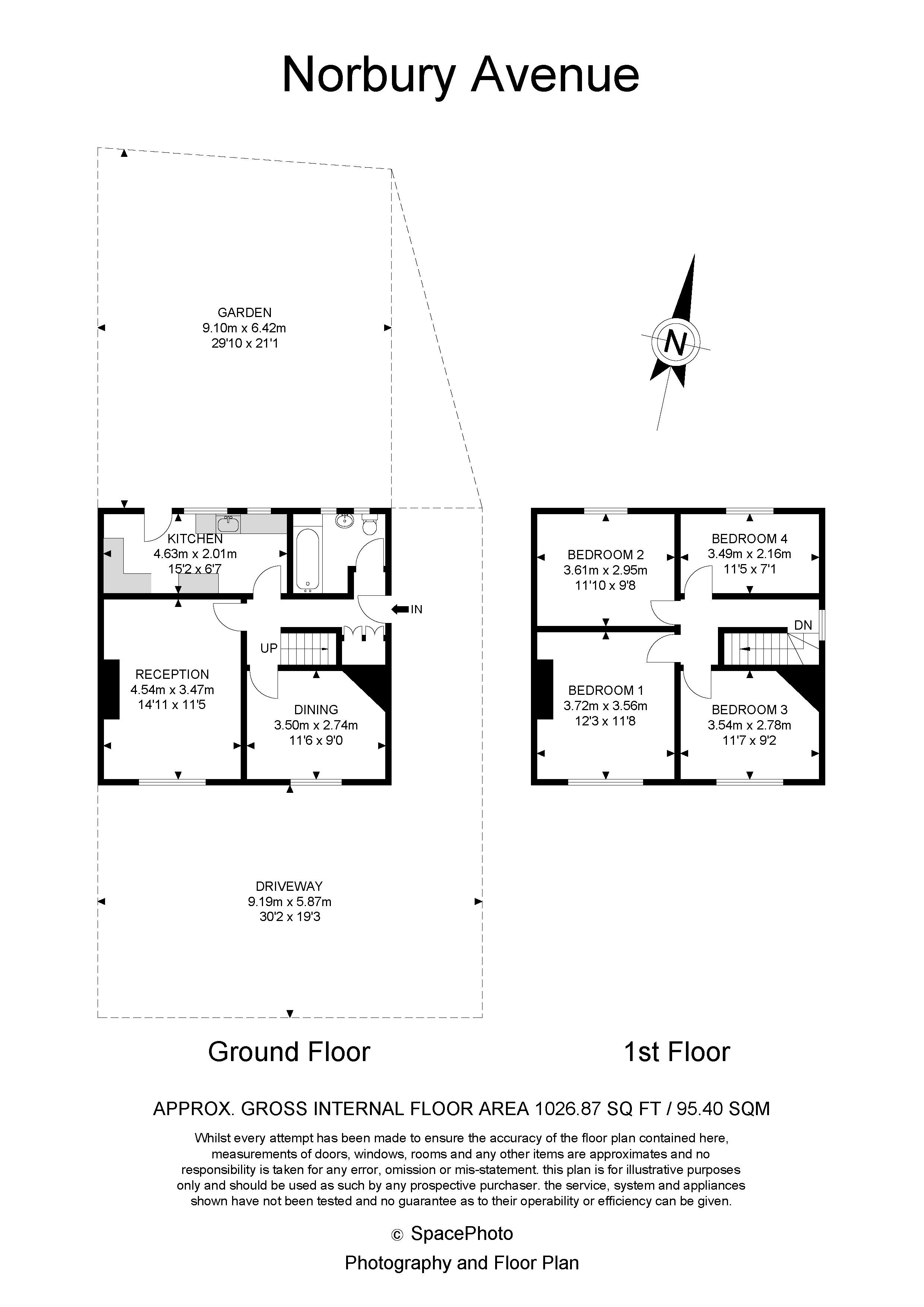 4 bed house for sale in Norbury Avenue - Property Floorplan