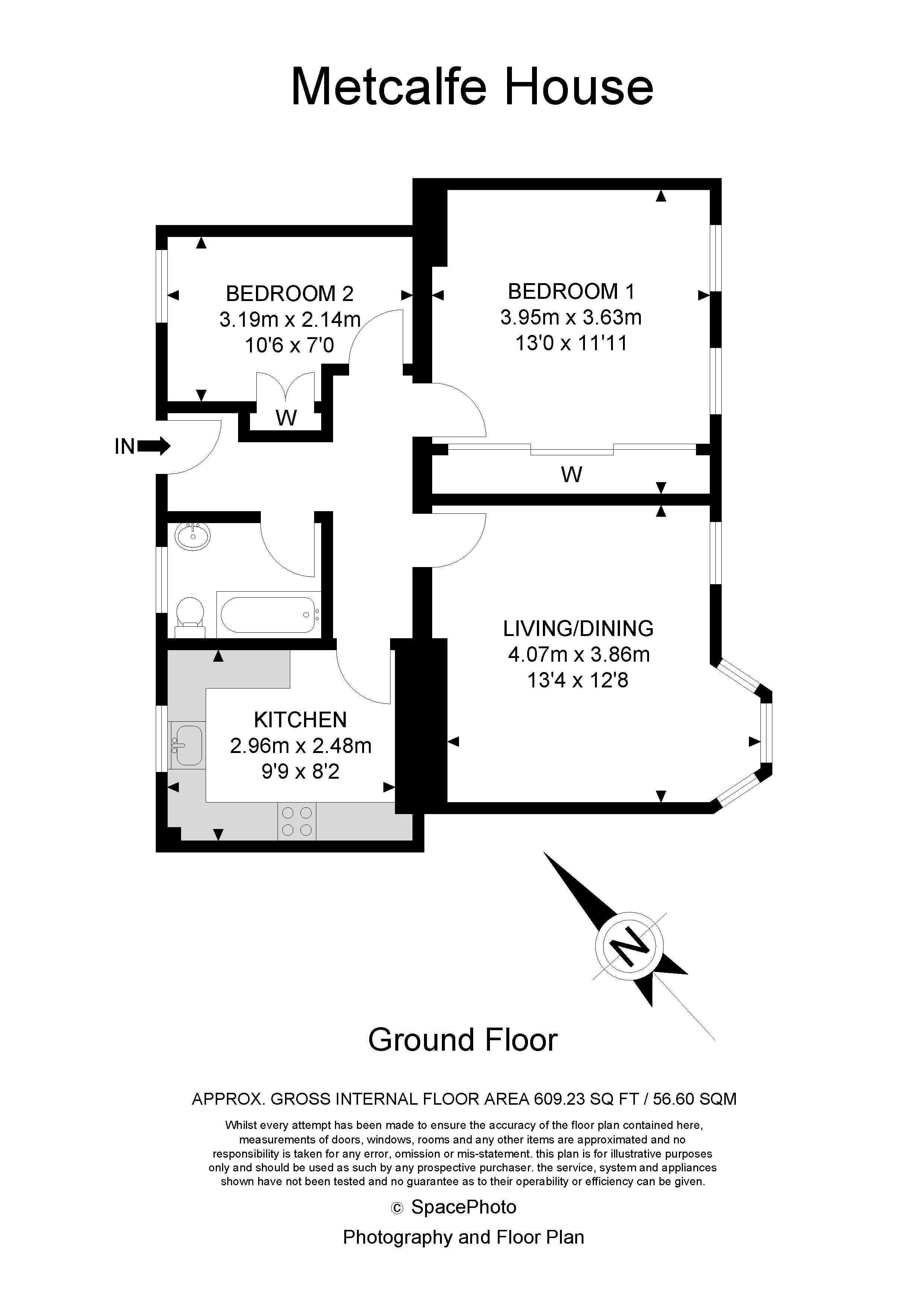 2 bed flat for sale in Albion Avenue - Property Floorplan