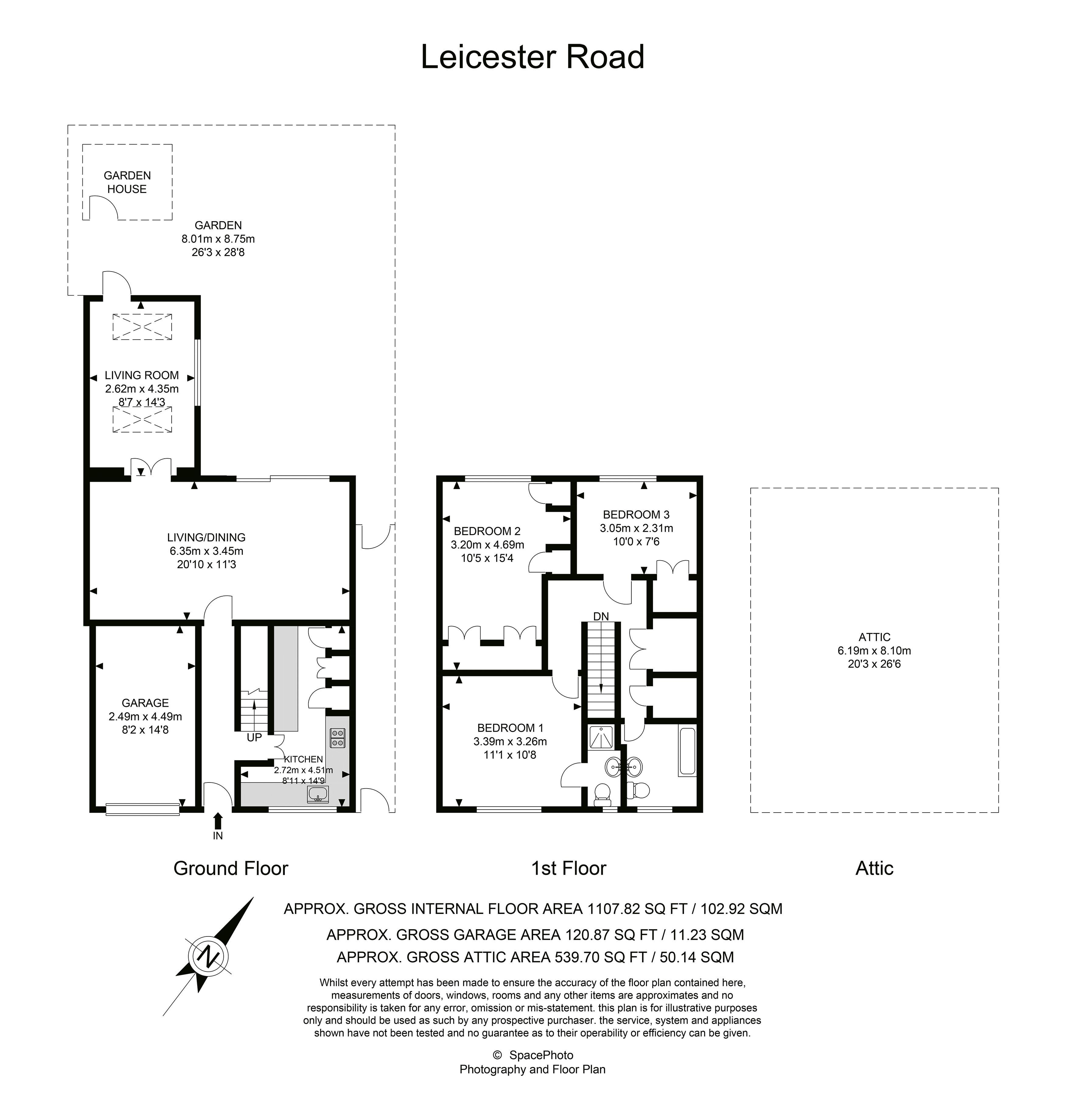 4 bed house to rent in Leicester Road - Property Floorplan
