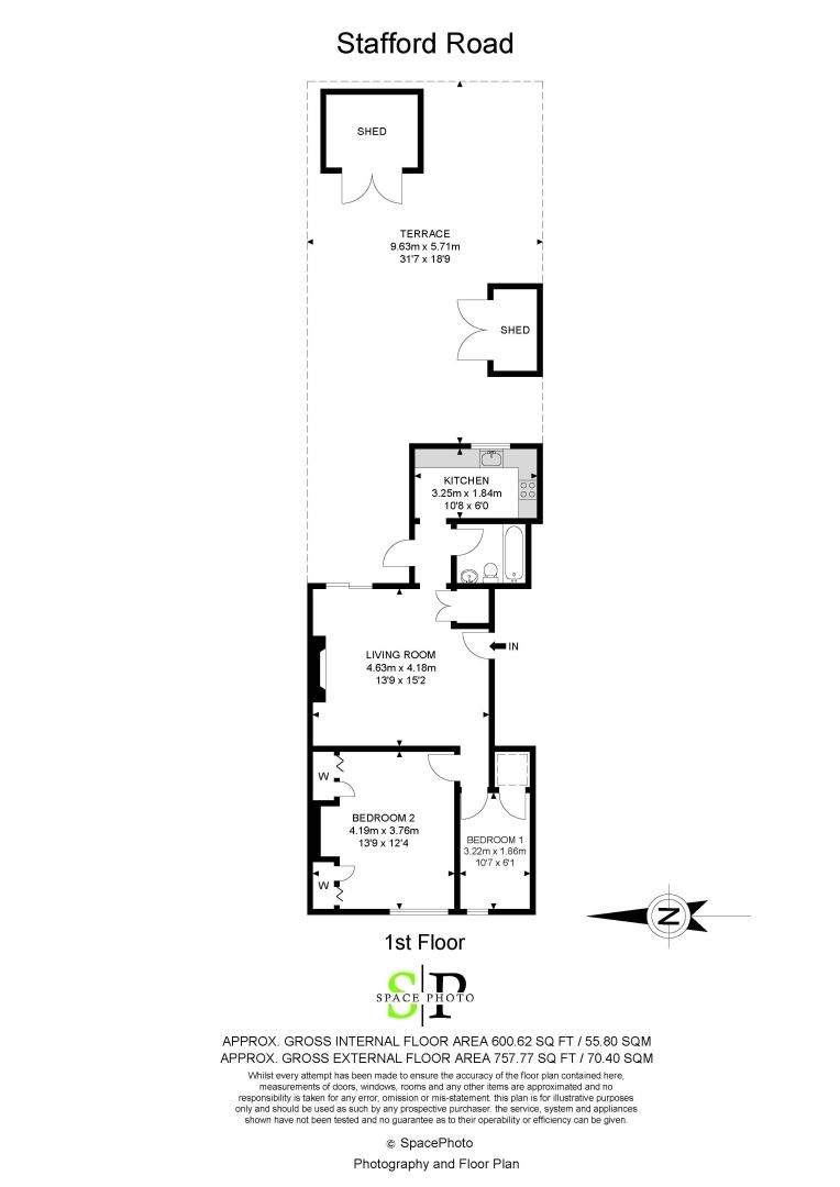 2 bed flat for sale in Stafford Road - Property Floorplan