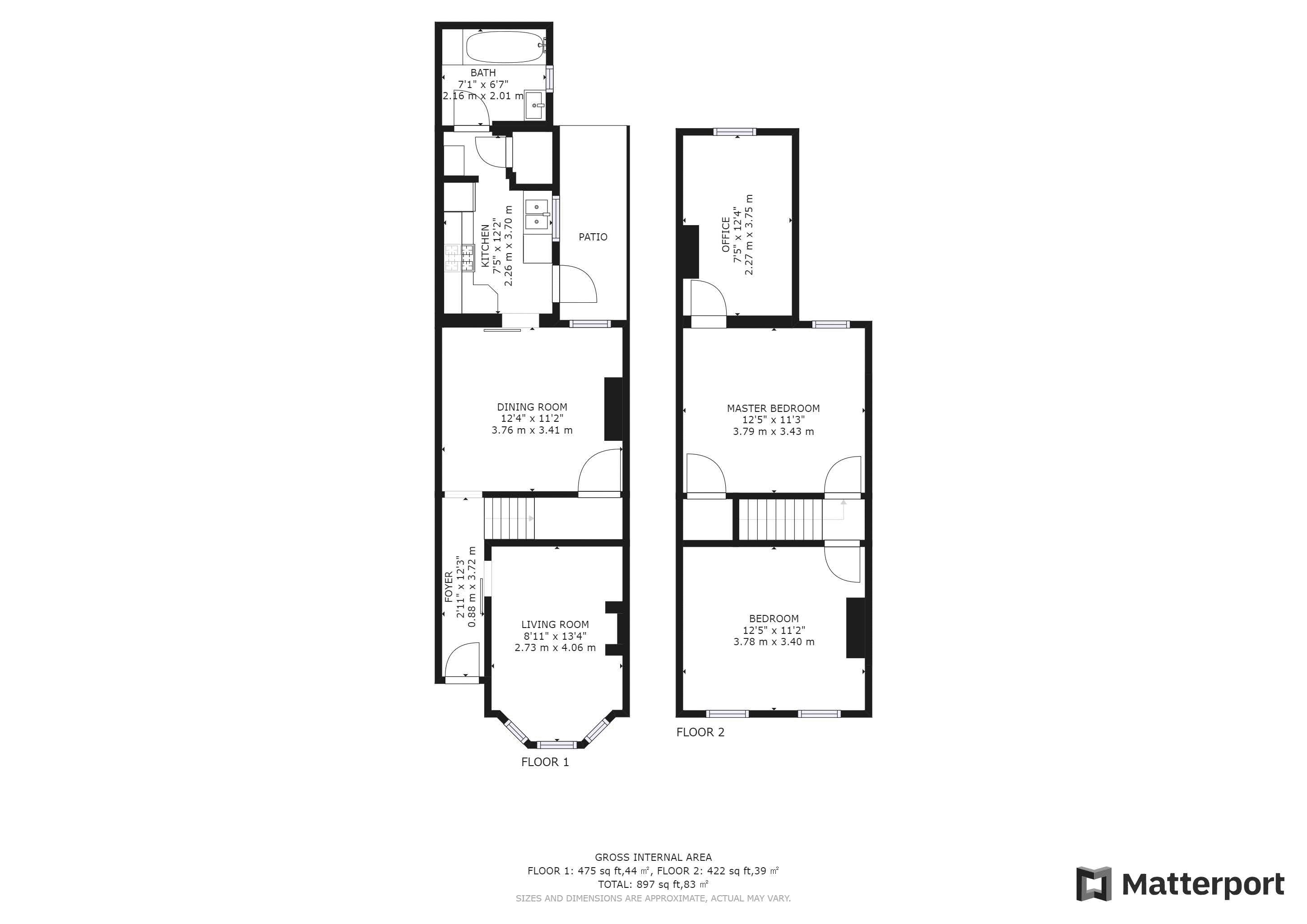 3 bed house for sale in Alpha Road - Property Floorplan