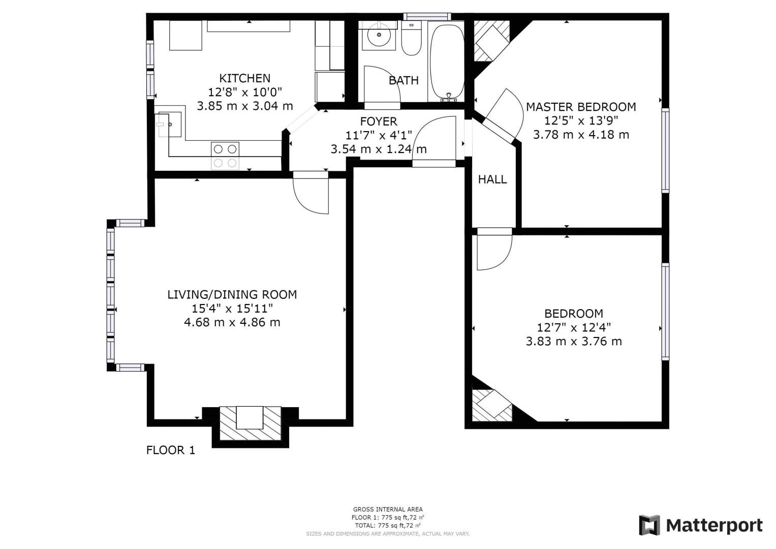 2 bed flat for sale in St. Augustines Avenue - Property Floorplan